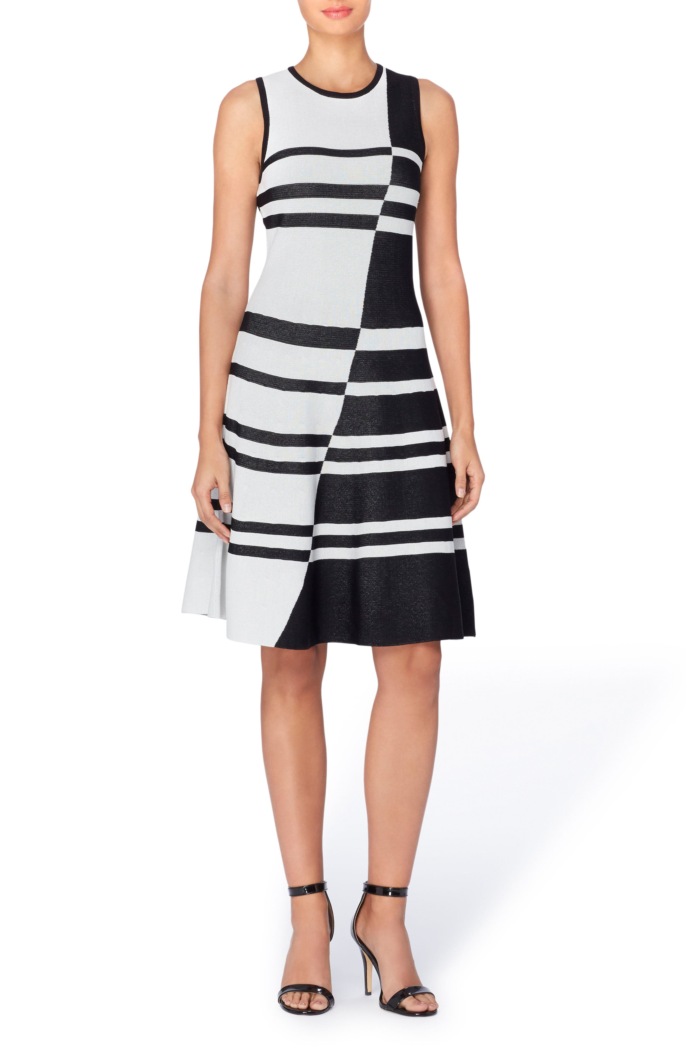 Main Image - Catherine Catherine Malandrino Loren Colorblock Stripe Dress