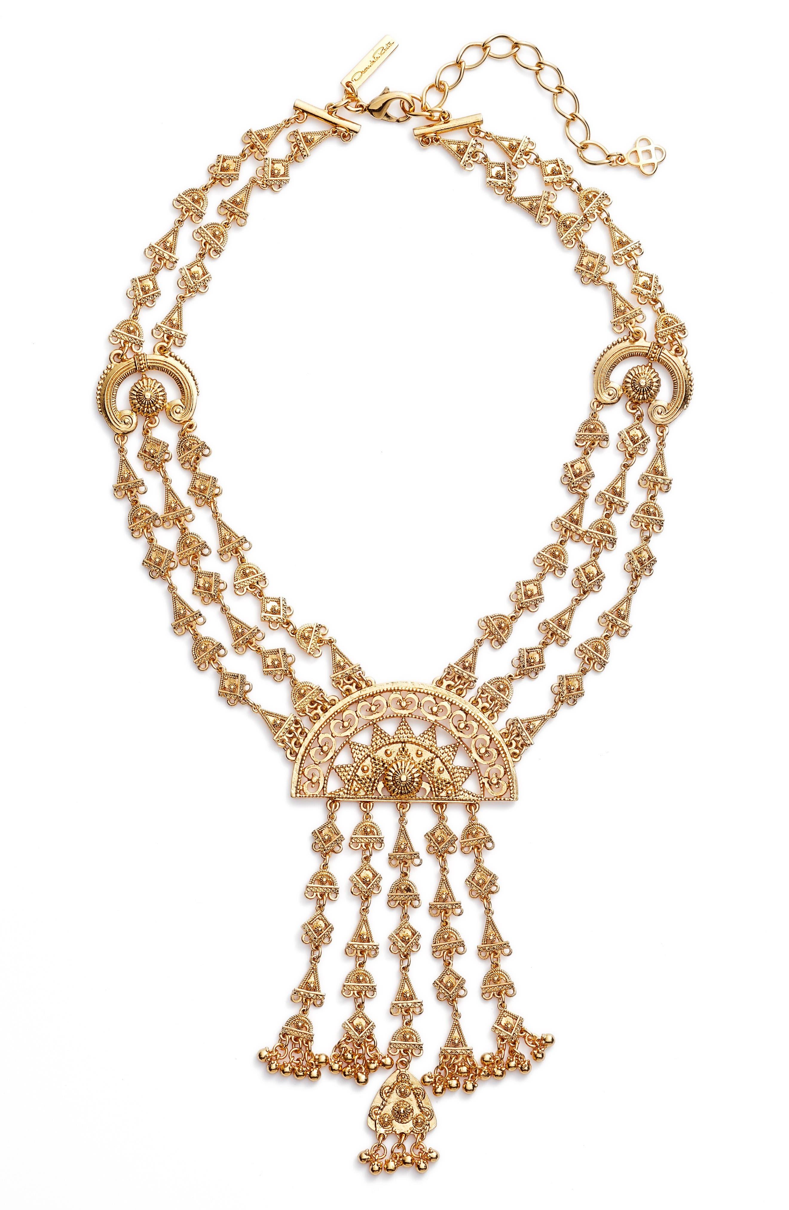 Main Image - Oscar de la Renta Ornate Charm Necklace
