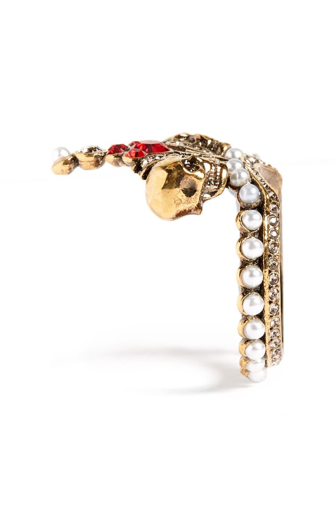 Alternate Image 2  - Alexander McQueen Crown Skull Statement Ring