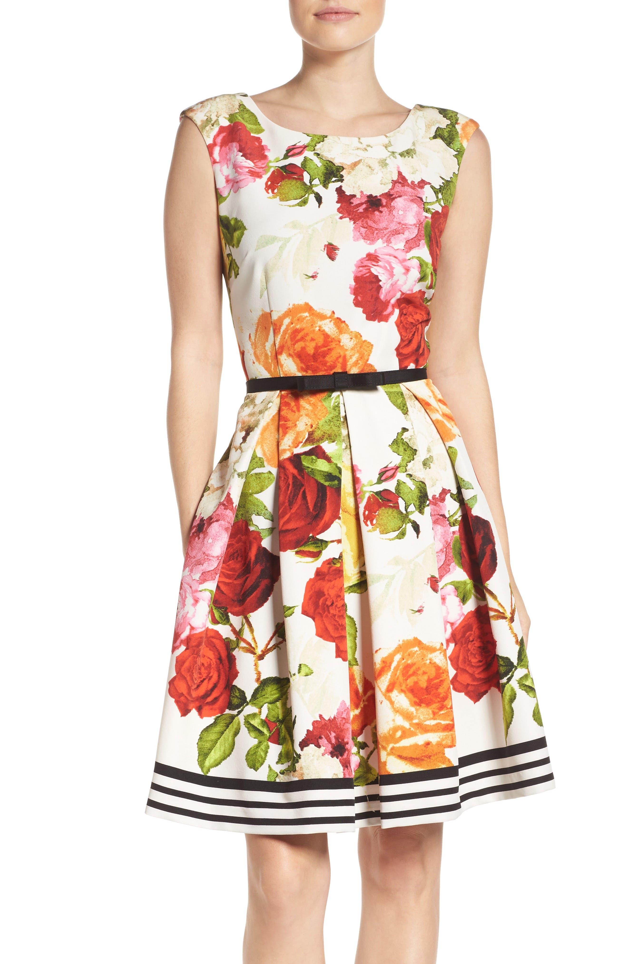 Alternate Image 1 Selected - Gabby Skye Floral Fit & Flare Dress