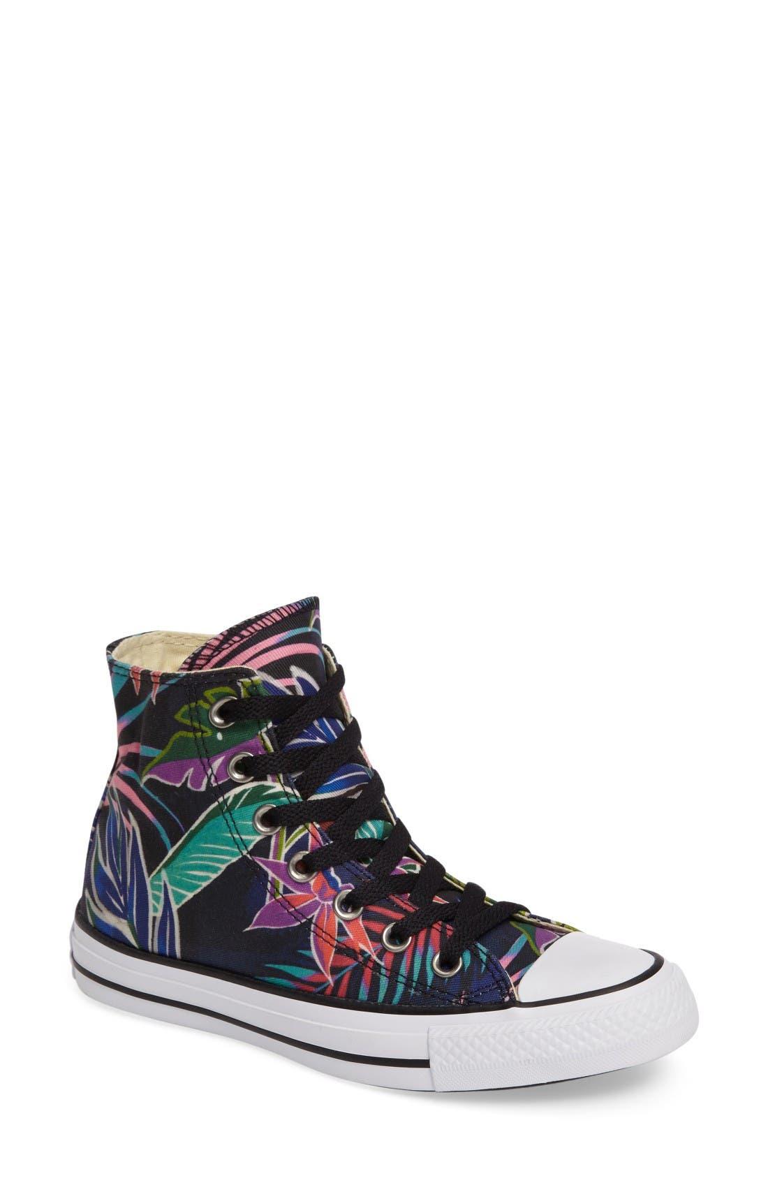 Alternate Image 1 Selected - Converse Chuck Taylor® All Star® Print High Top Sneaker (Women)