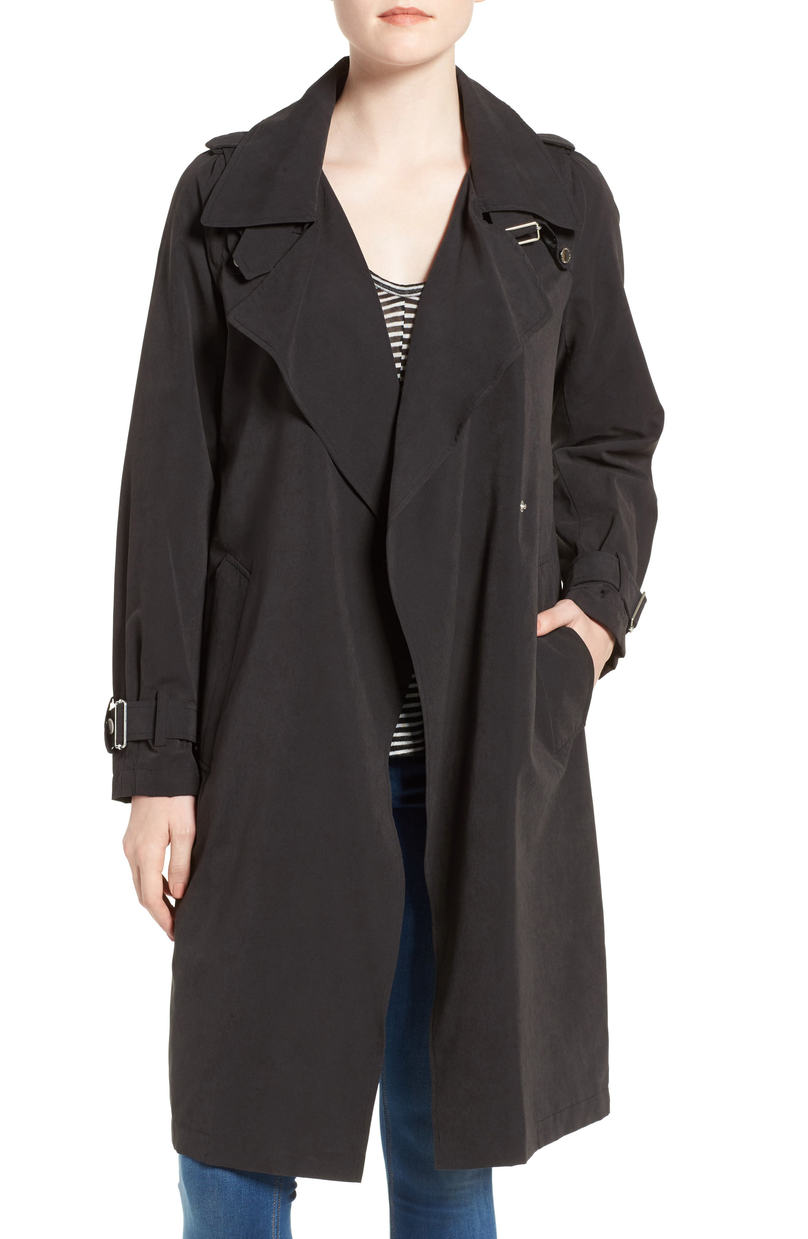 French Connection Drape Front Trench Coat