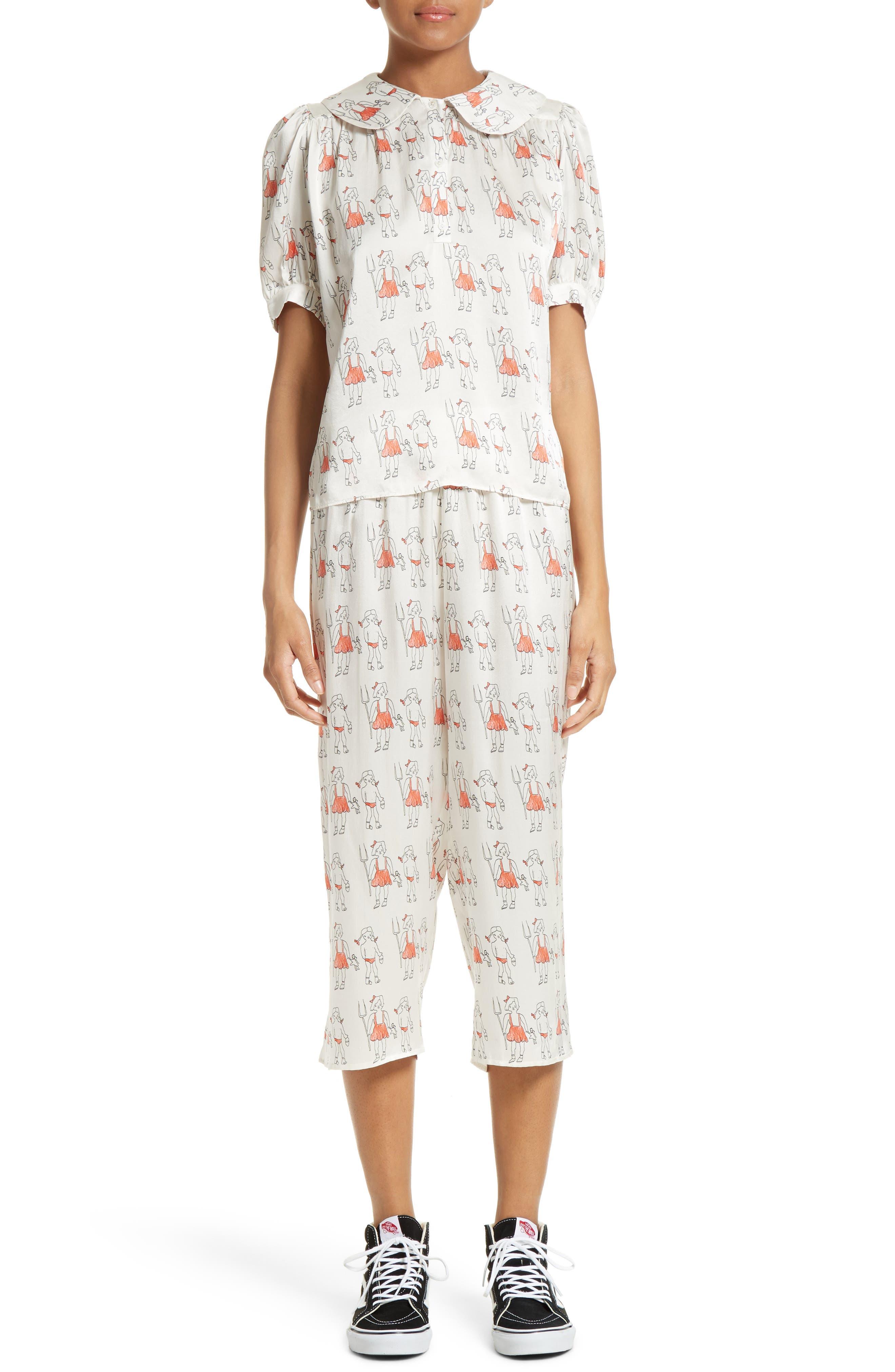 Alternate Image 9  - Shrimps Dagobert Silk Pajama Pants