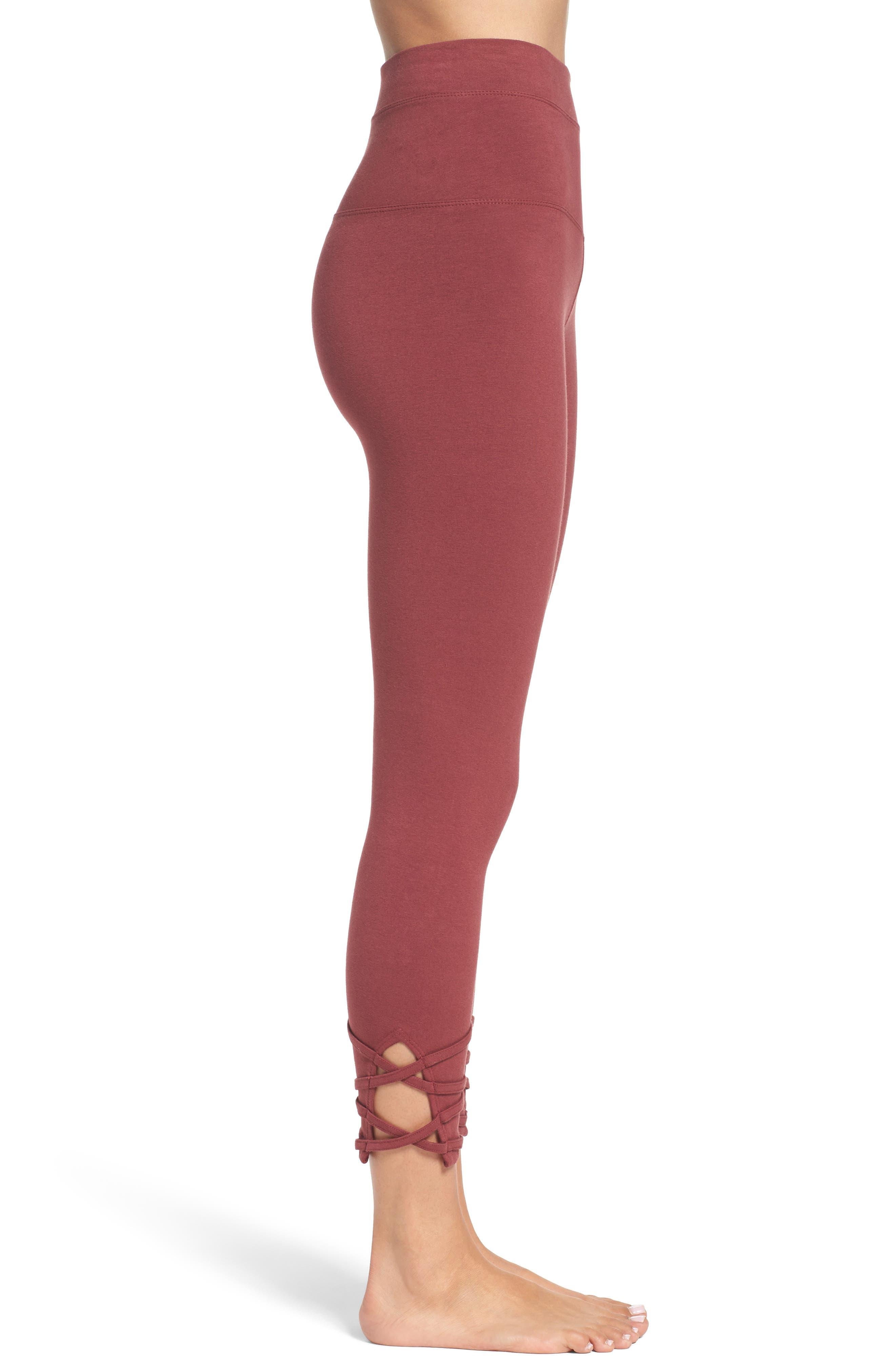 Alternate Image 3  - Hard Tail High Waist Crop Leggings