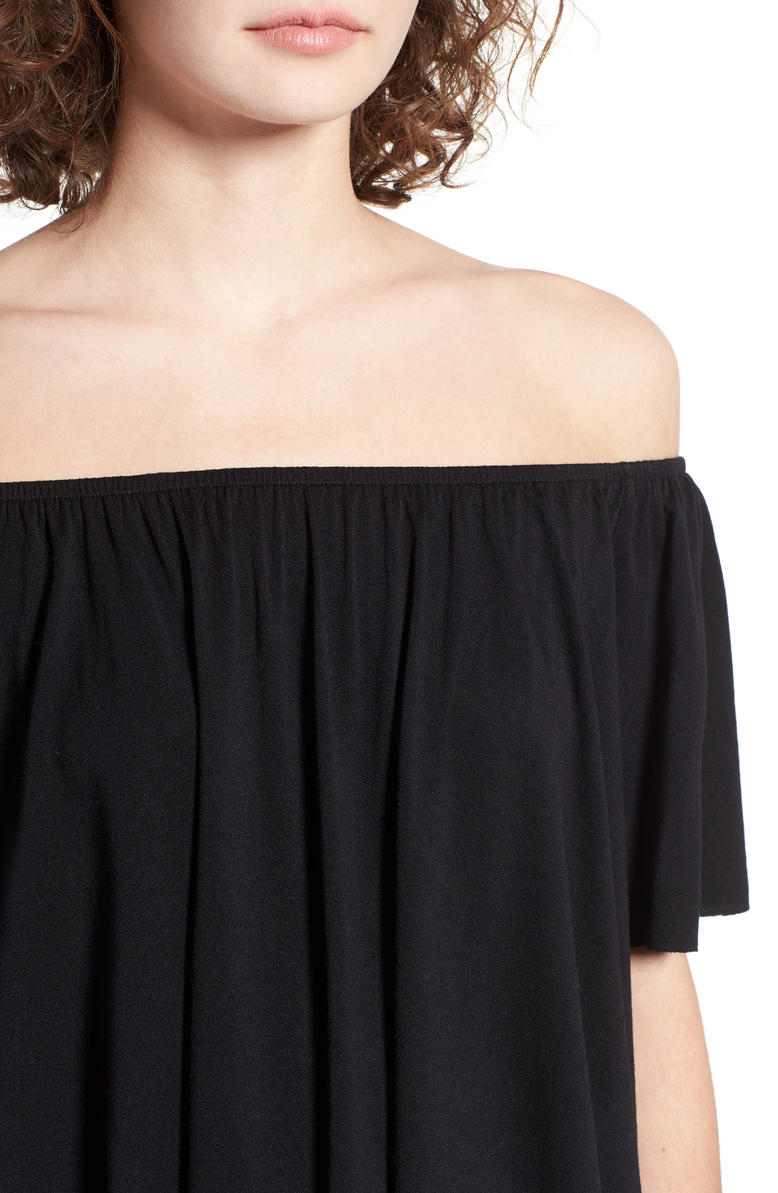 Alternate Image 4  - BP. Off the Shoulder Top