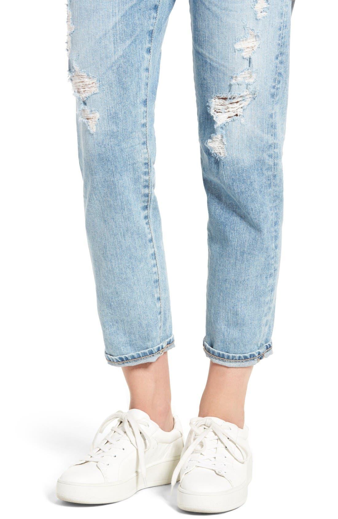 Alternate Image 5  - AG Ex-Boyfriend Crop Slim Jeans (24 Years Relief)