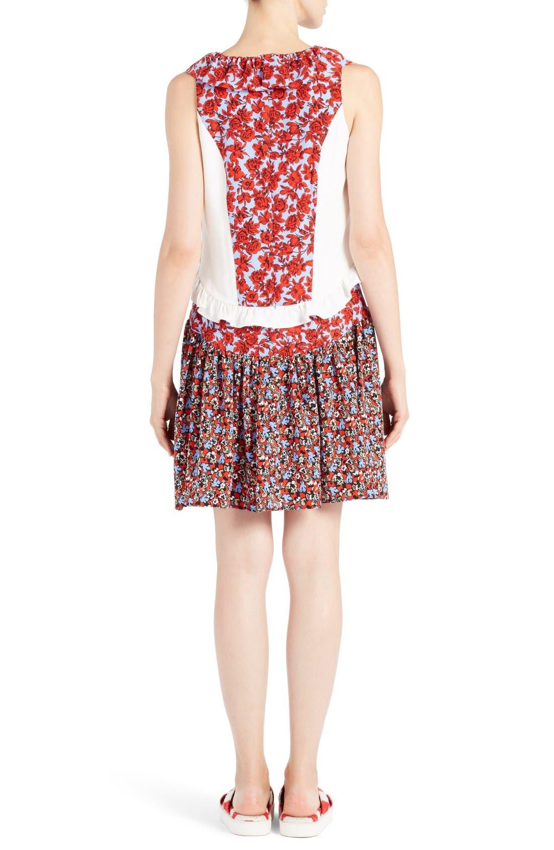 Alternate Image 2  - MSGM Floral Patchwork Silk Dress