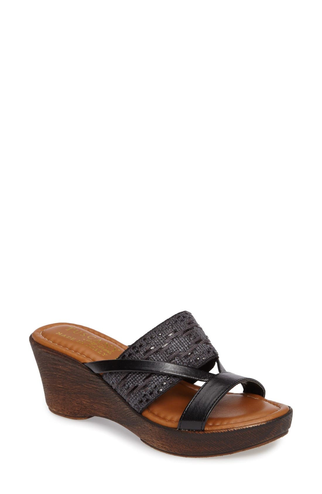 TUSCANY by Easy Street® Rachele Strappy Wedge Platform