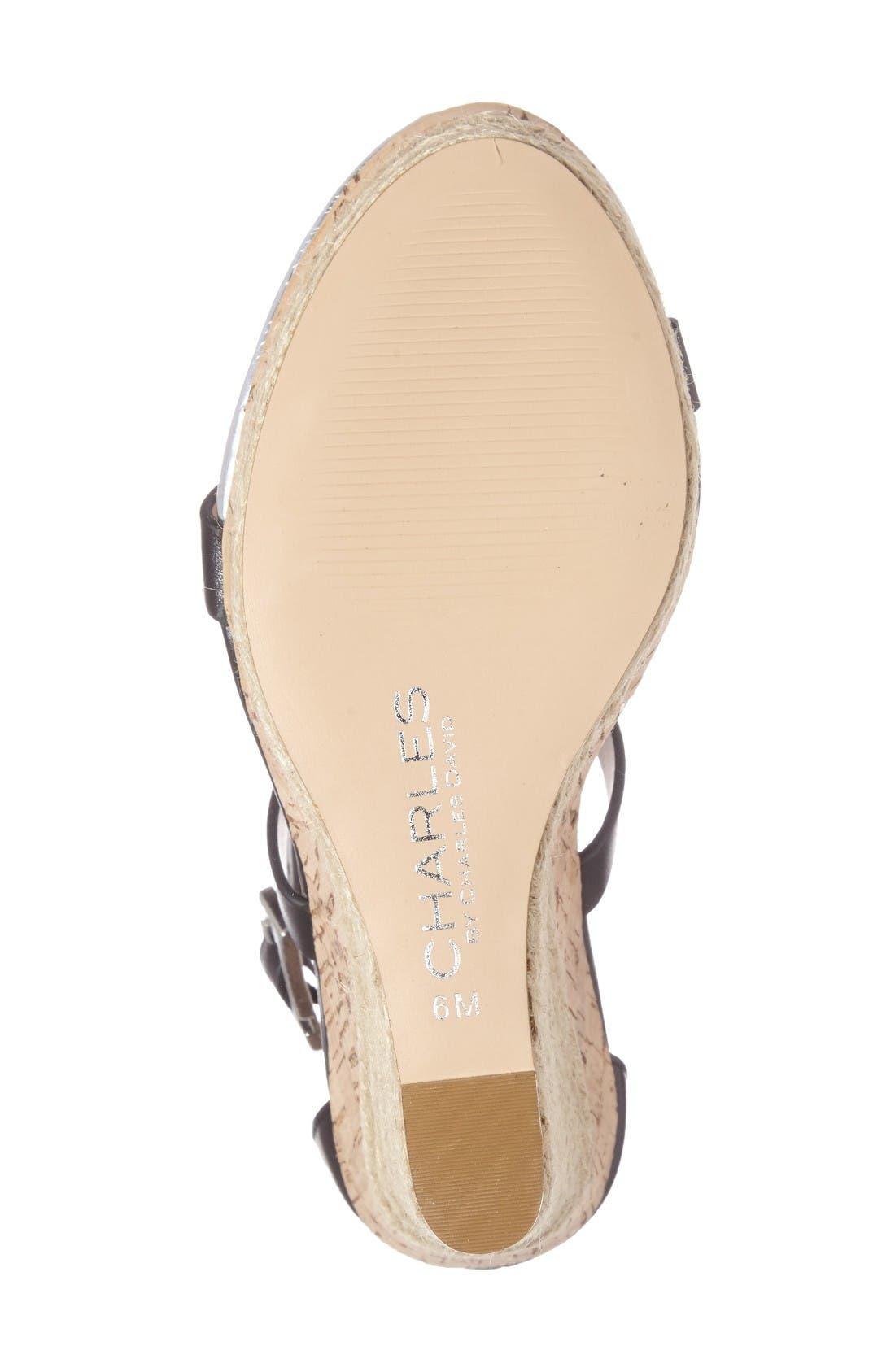Alternate Image 4  - Charles by Charles David Aden Platform Wedge Sandal (Women)