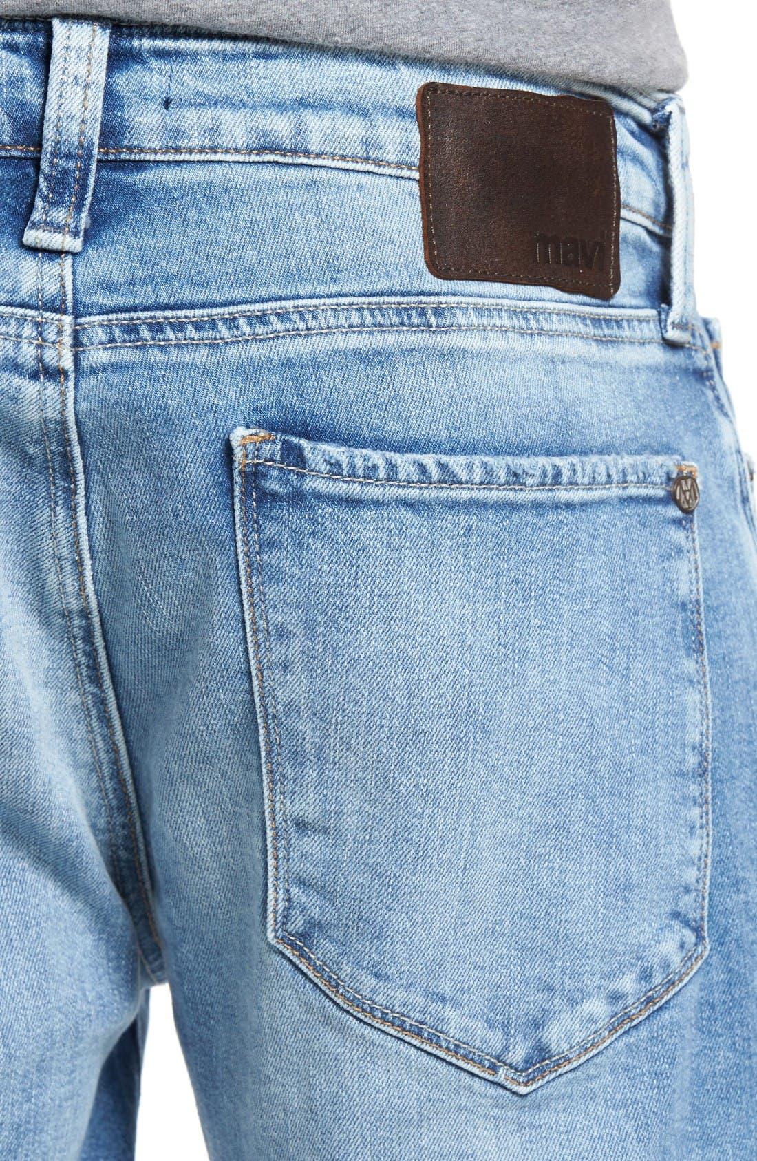 Alternate Image 4  - Mavi Jeans Jake Easy Slim Fit Jeans (Ripped)