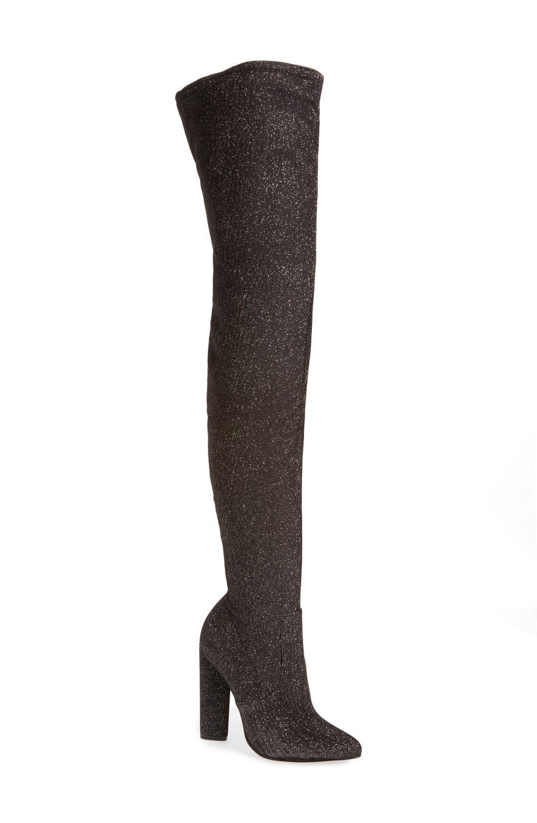 Steve Madden Crystals Over the Knee Boot (Women)