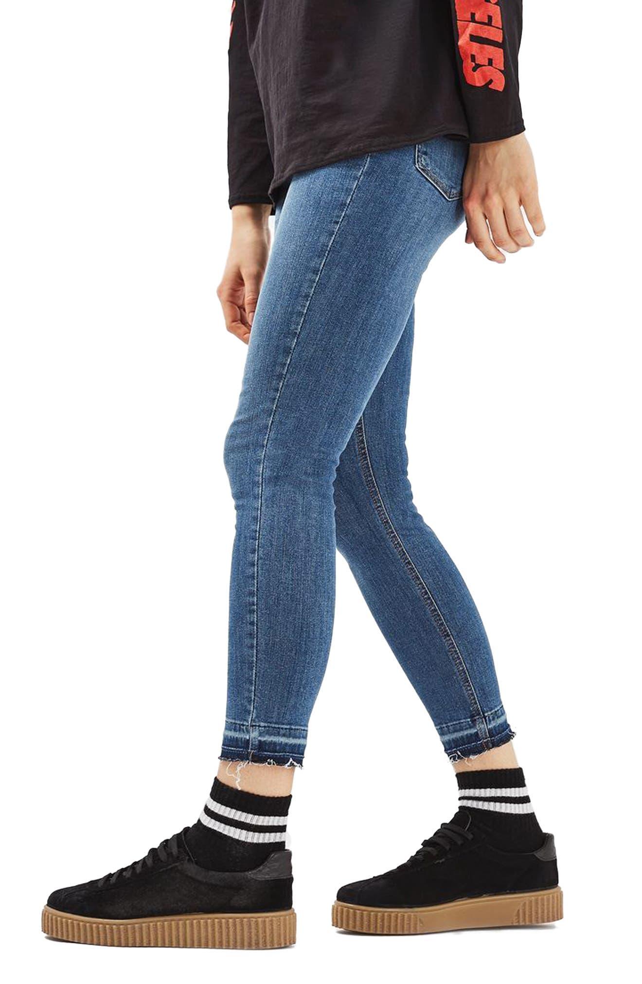 Alternate Image 1 Selected - Topshop Jamie Crop Skinny Jeans (Tall)