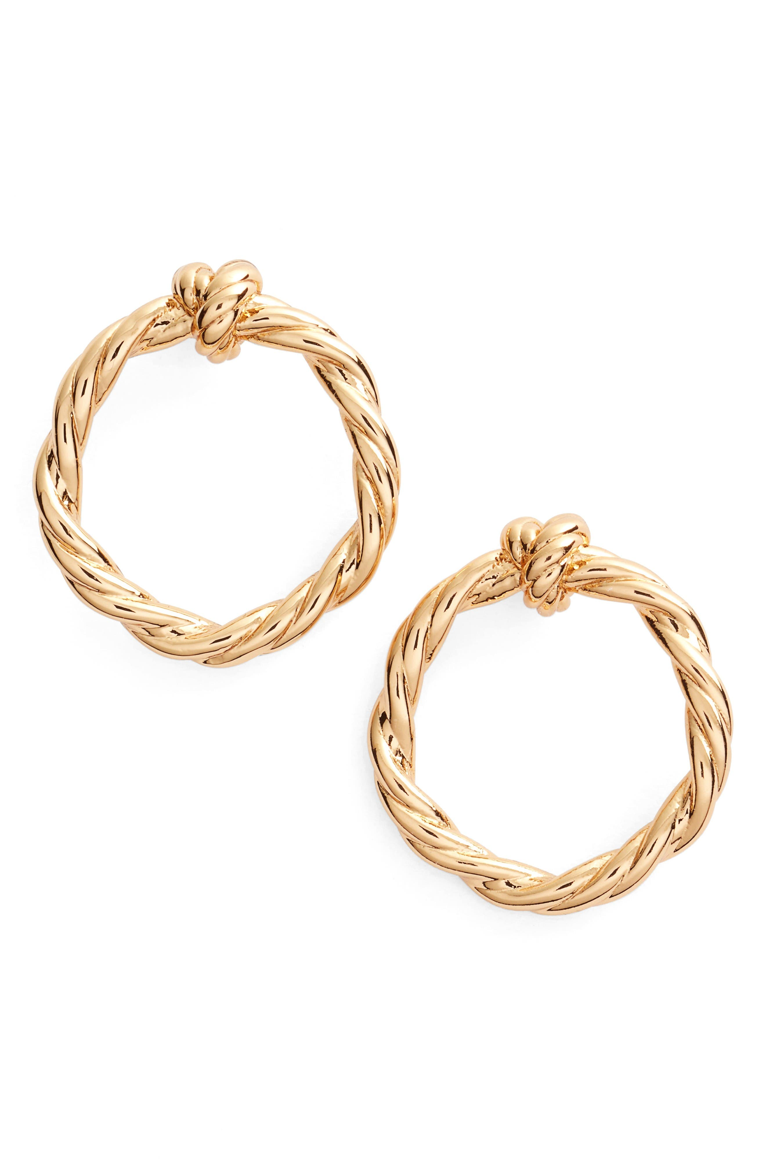 Alternate Image 1 Selected - Tory Burch Twisted Knot Stud Earrings