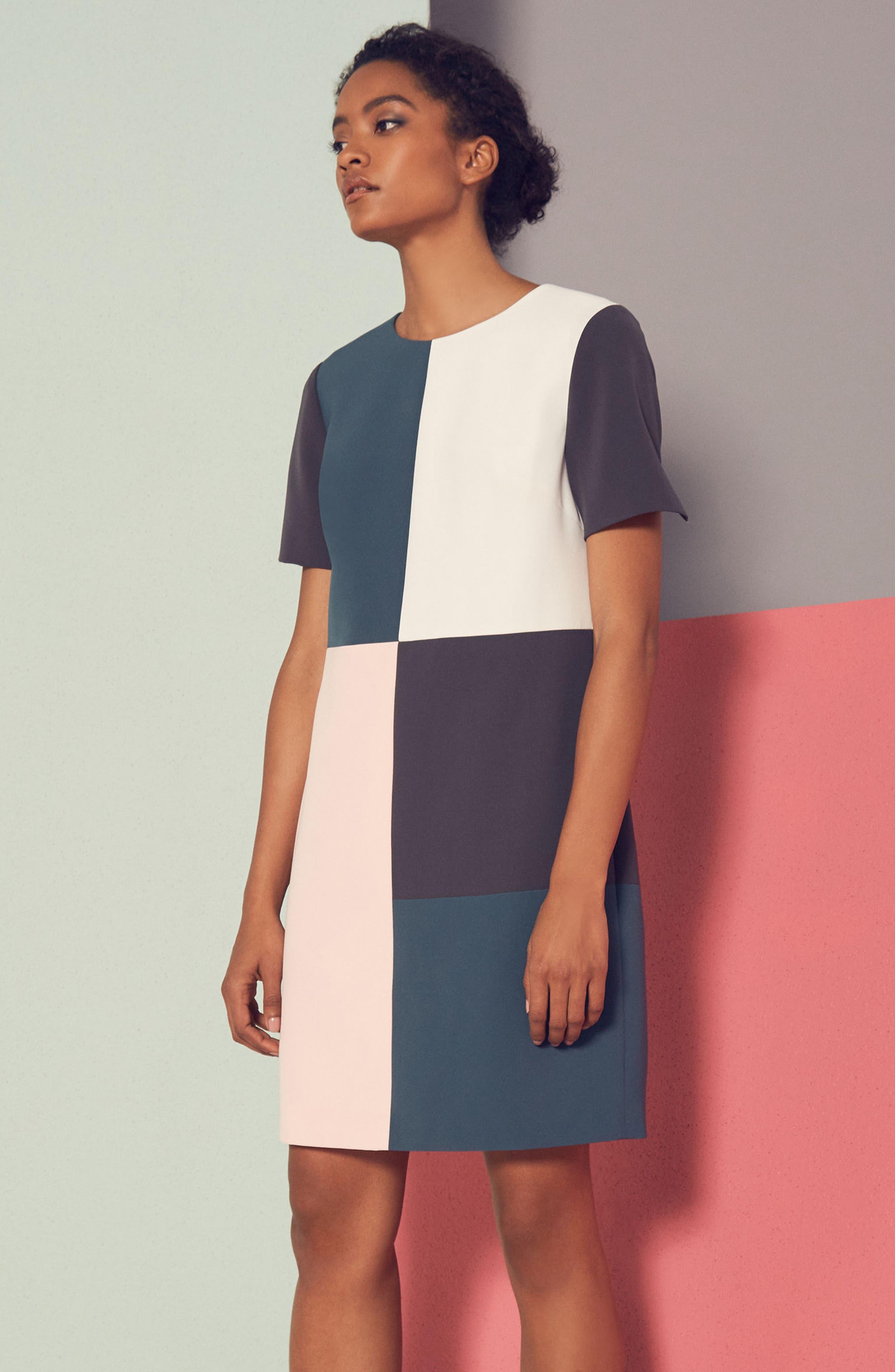 Alternate Image 6  - Ted Baker London Ardell Colorblock Dress