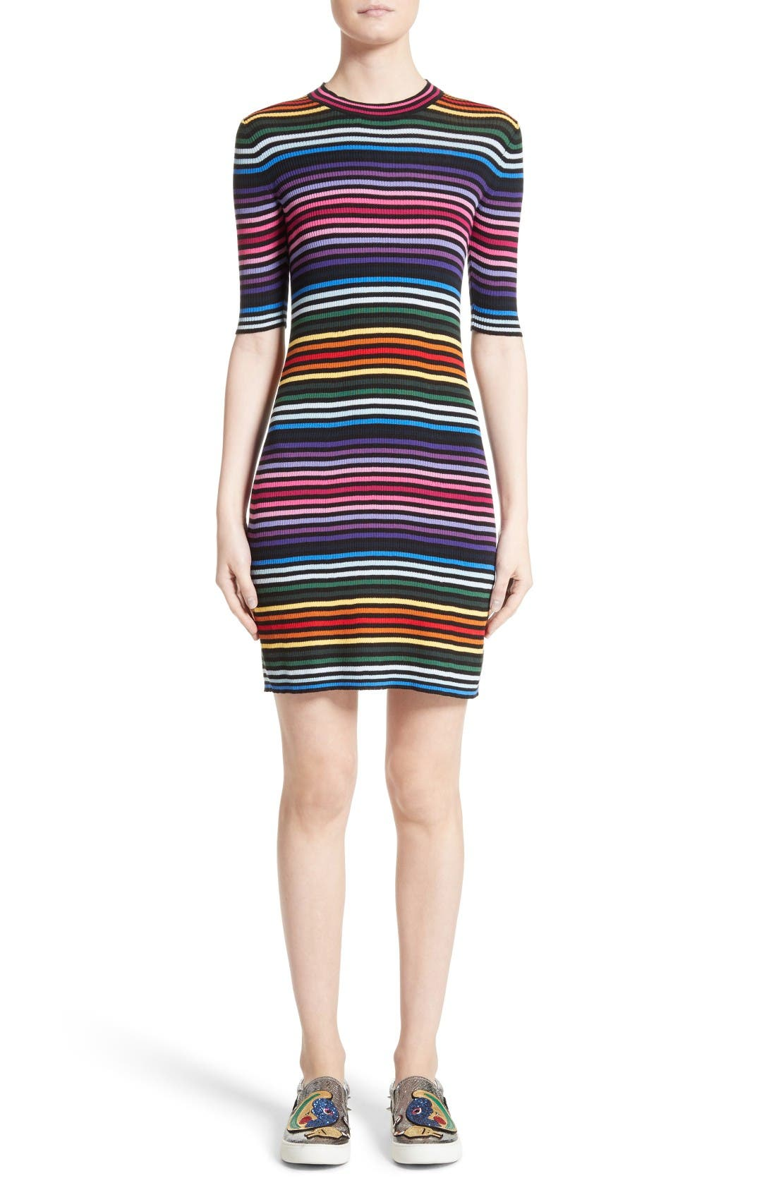 Alternate Image 1  - MARC JACOBS Stripe Cotton T-shirt Dress