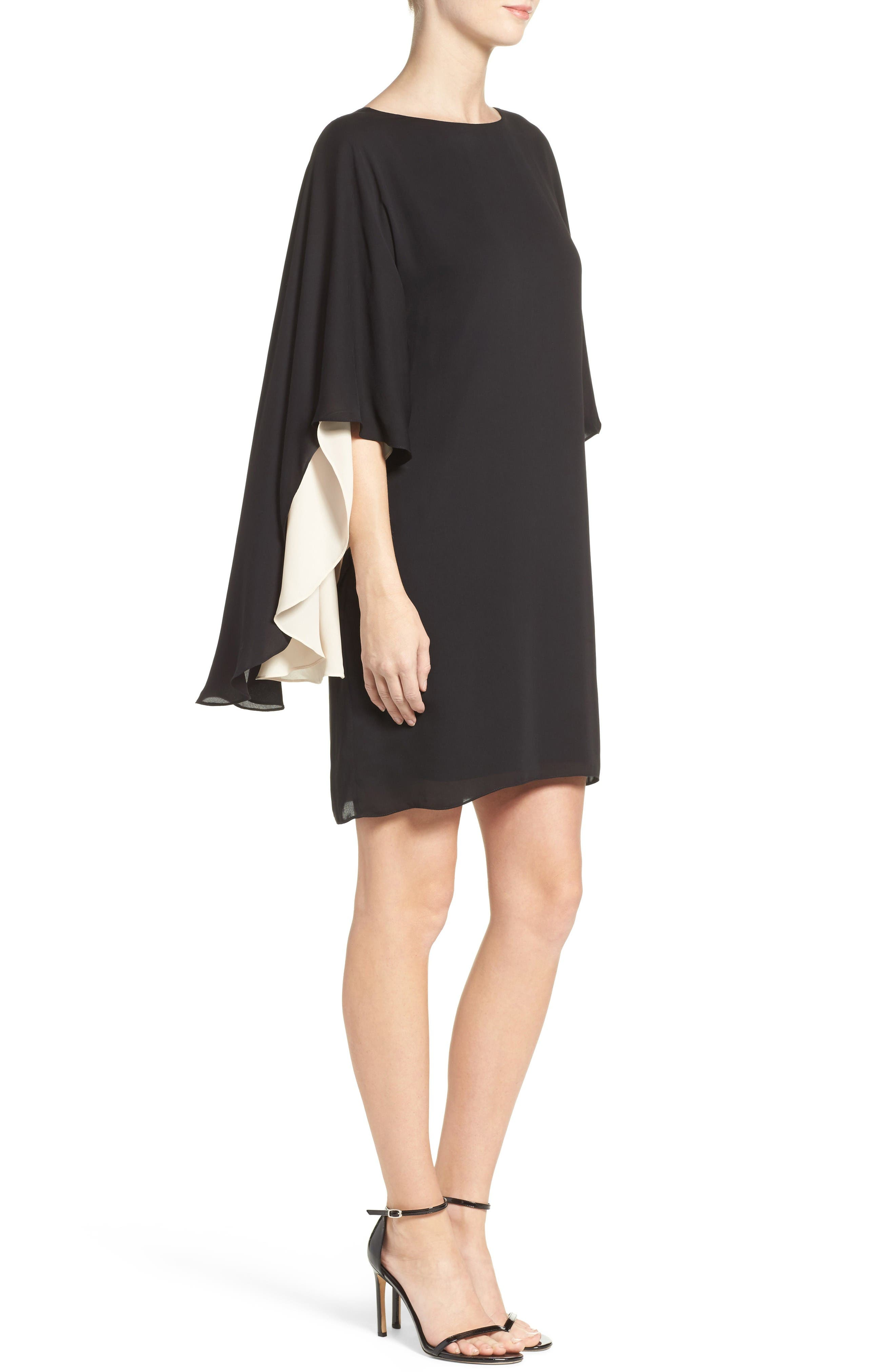 Alternate Image 3  - Halston Heritage Cape Sleeve Shift Dress