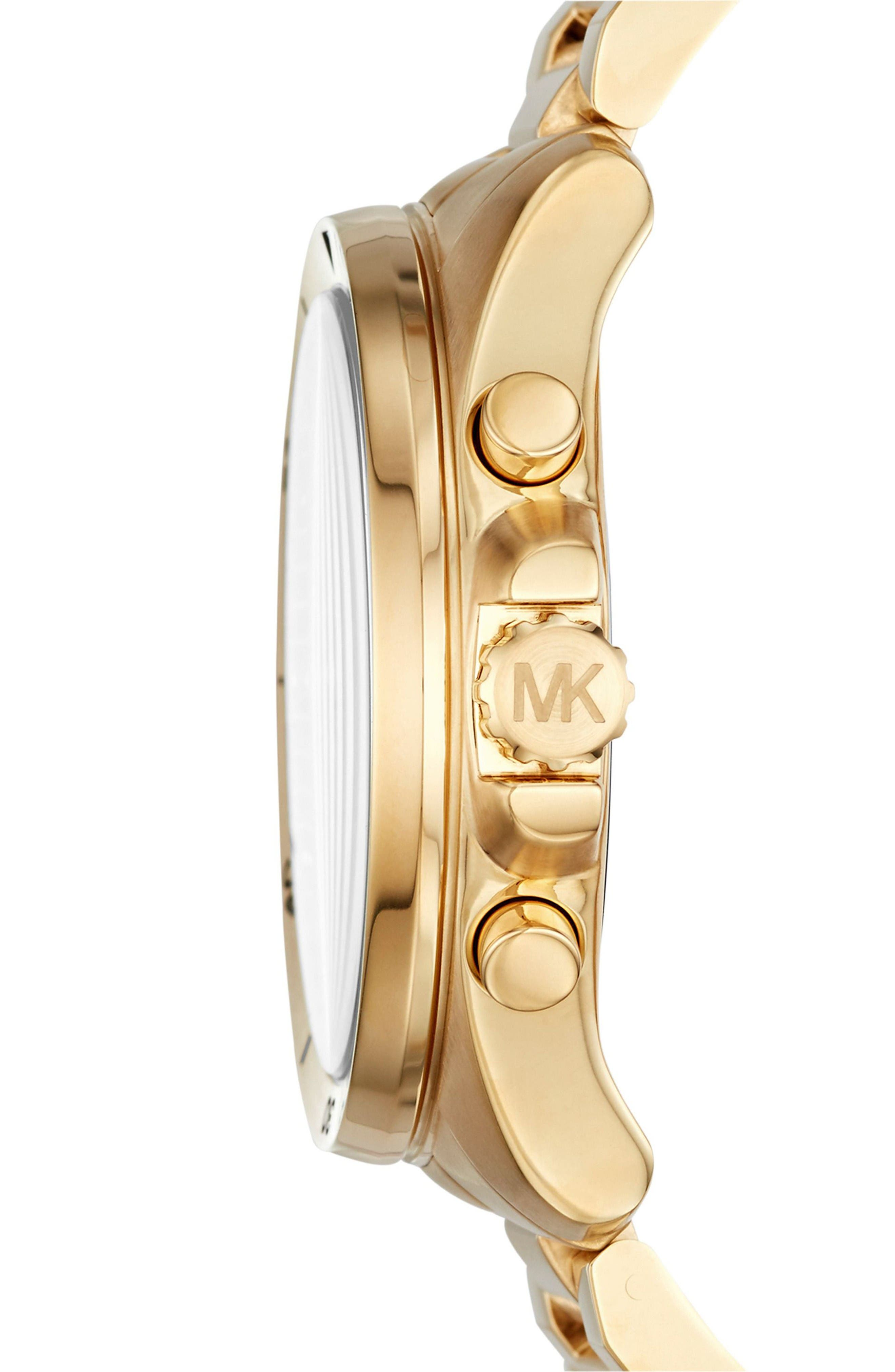 Alternate Image 2  - Michael Kors 'Brecken' Chronograph Silicone Strap Watch, 44mm