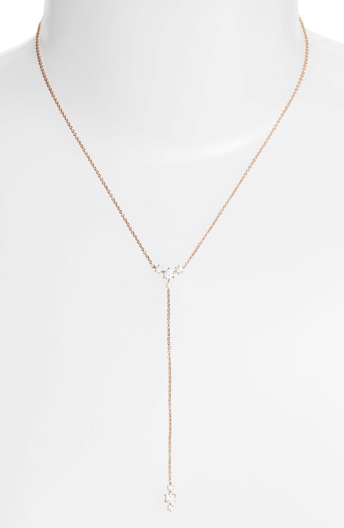 Nadri Edwardian Crystal Y-Necklace