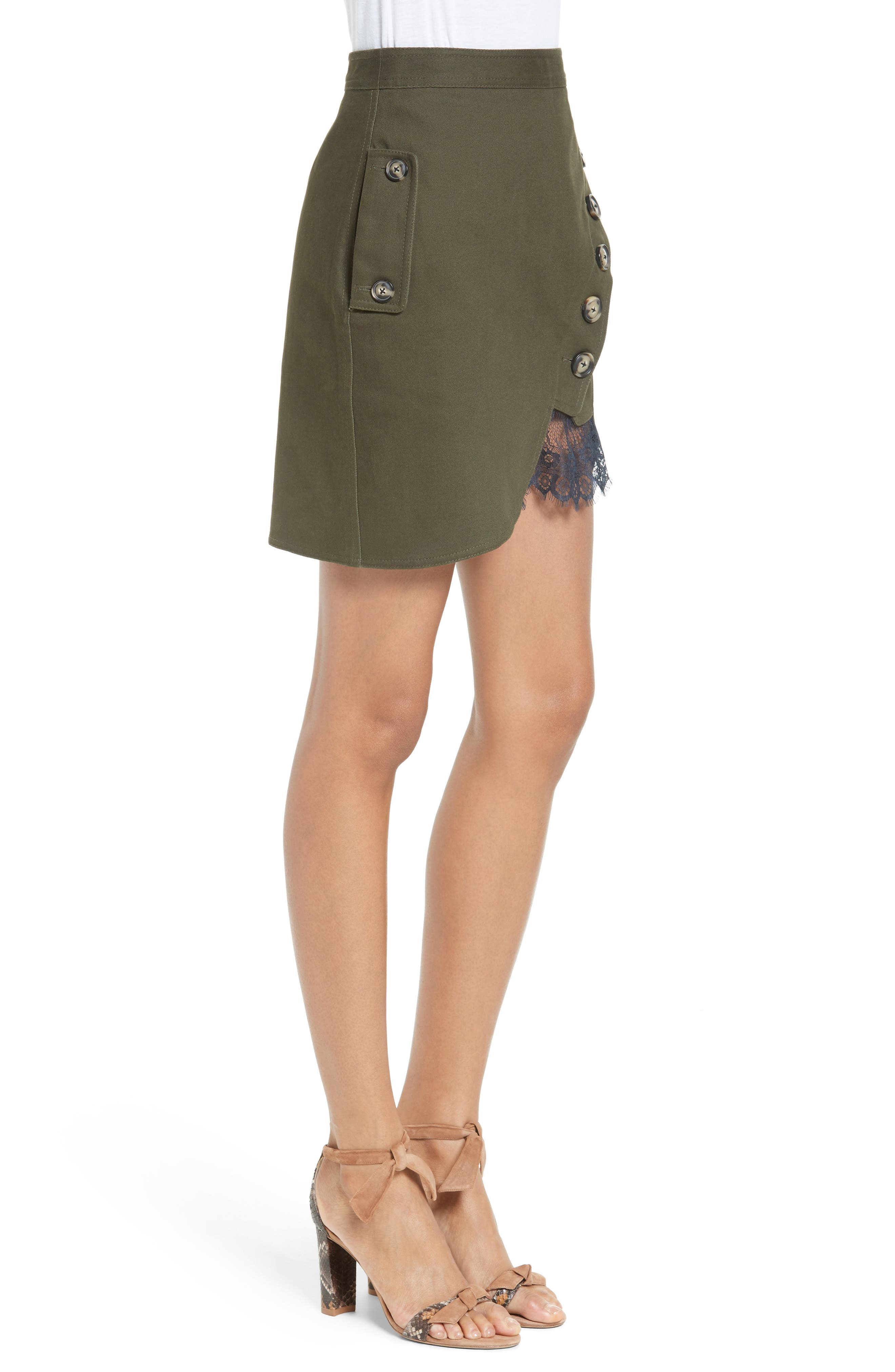 Alternate Image 3  - Self-Portrait Utility Miniskirt
