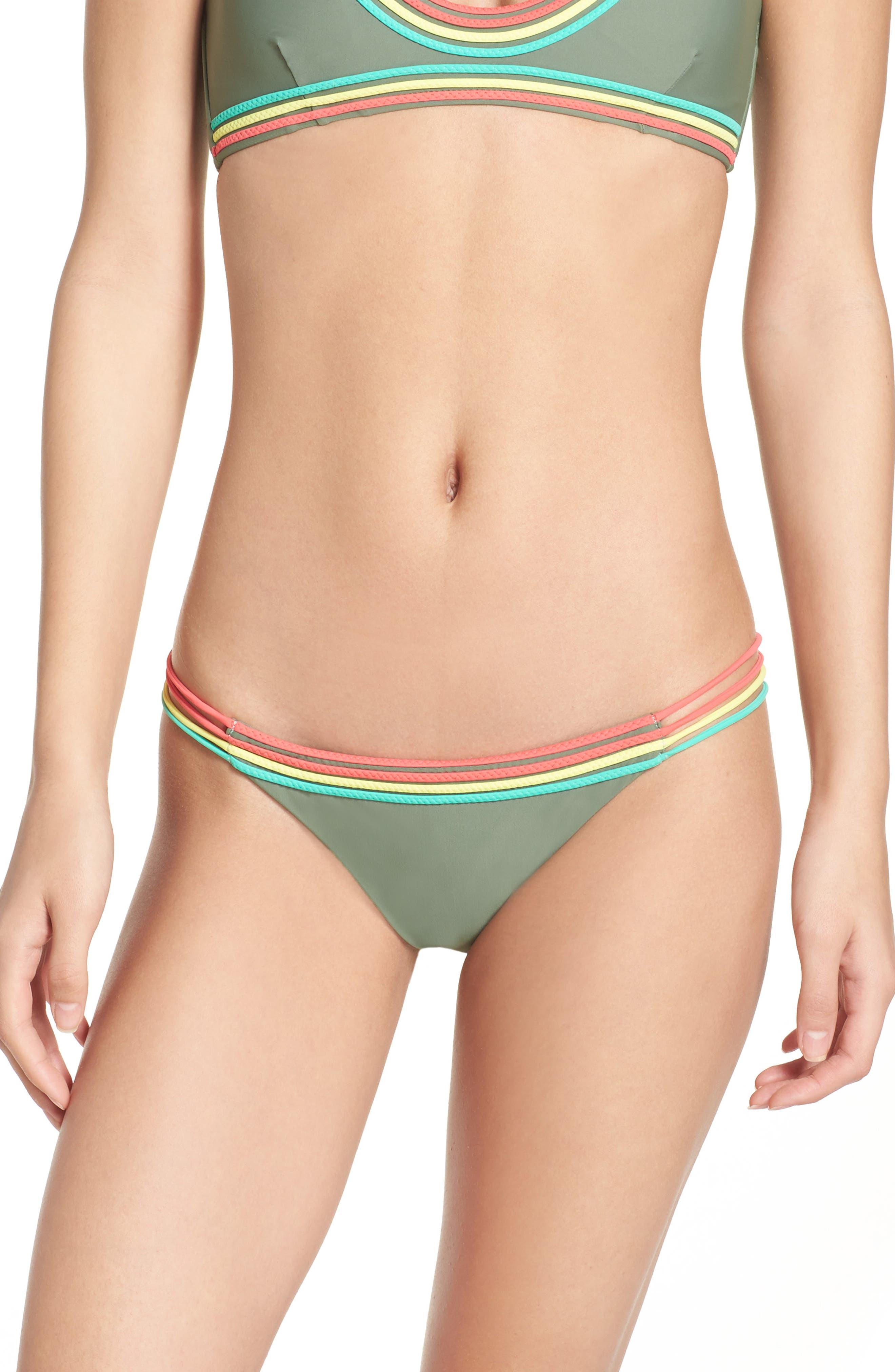 LULI FAMA Colored Strings Bikini Bottoms