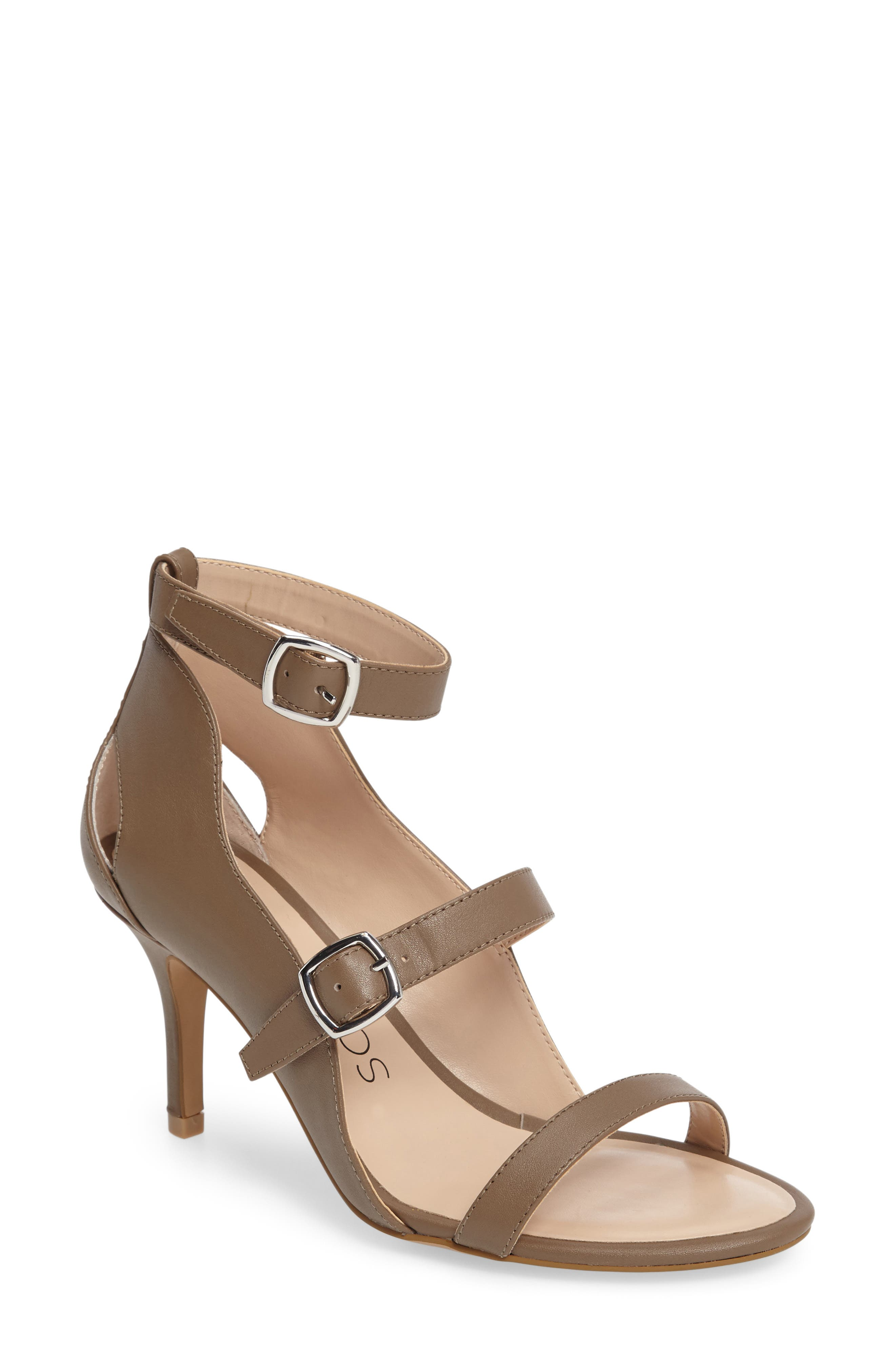 SOLE SOCIETY Carnie Scalloped Strappy Sandal