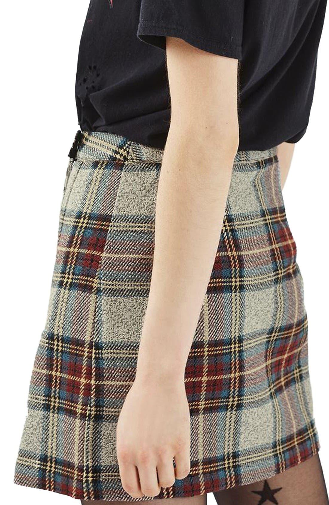Alternate Image 3  - Topshop Plaid Wrap Miniskirt
