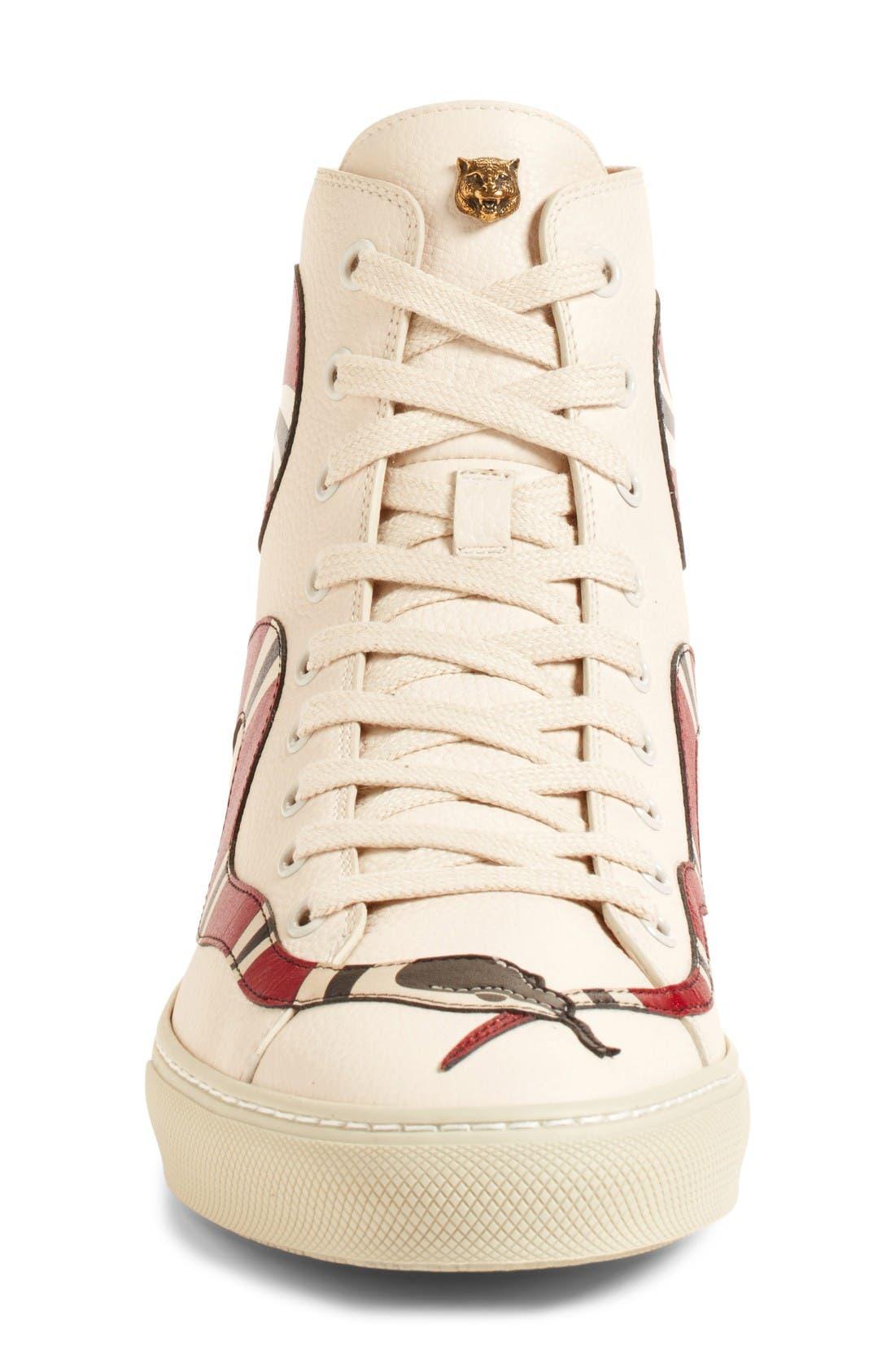 Alternate Image 4  - Gucci Major Snake High Top Sneaker (Women)