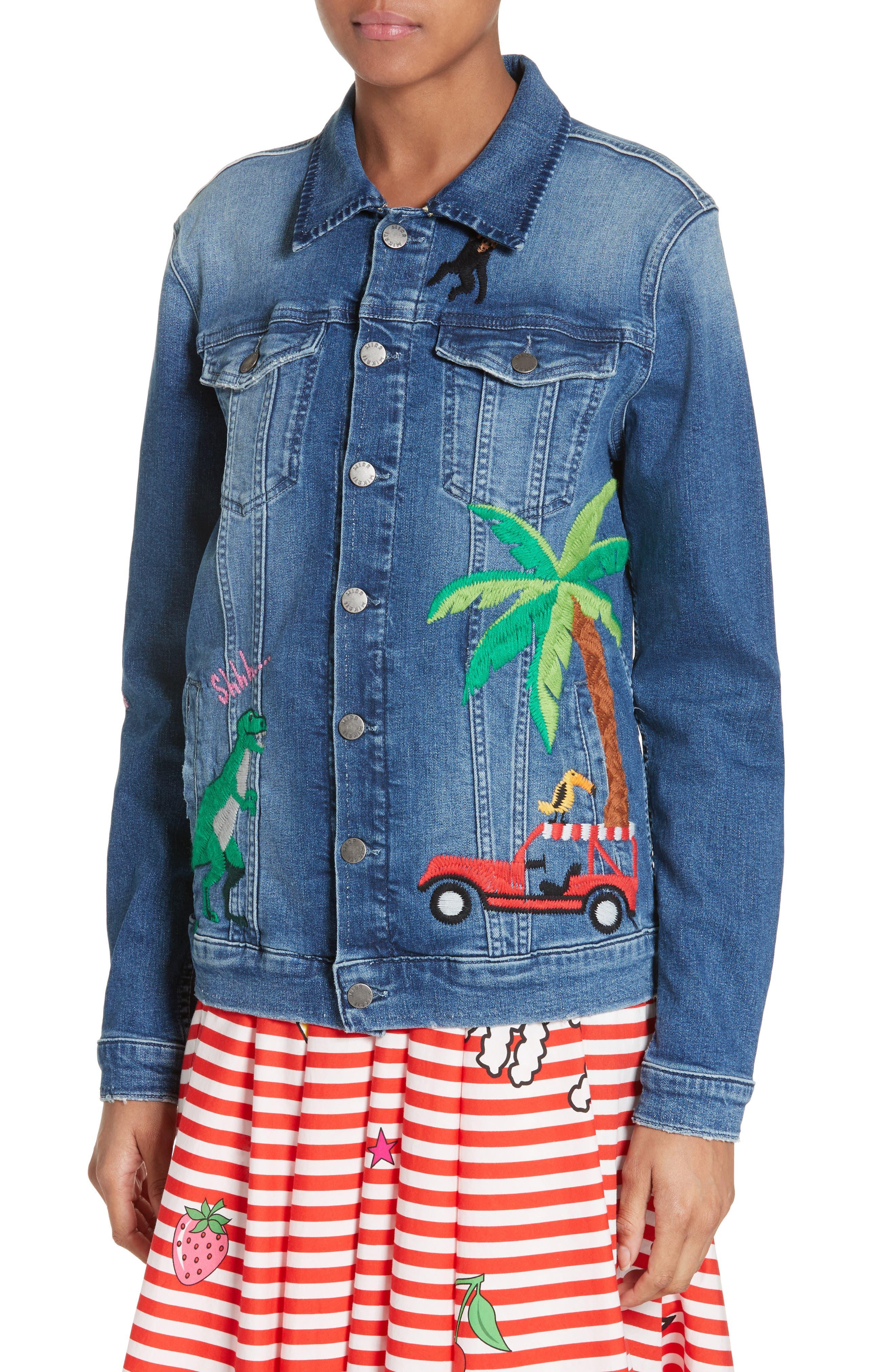 Alternate Image 6  - Mira Mikati Rainforest Embroidered Denim Jacket