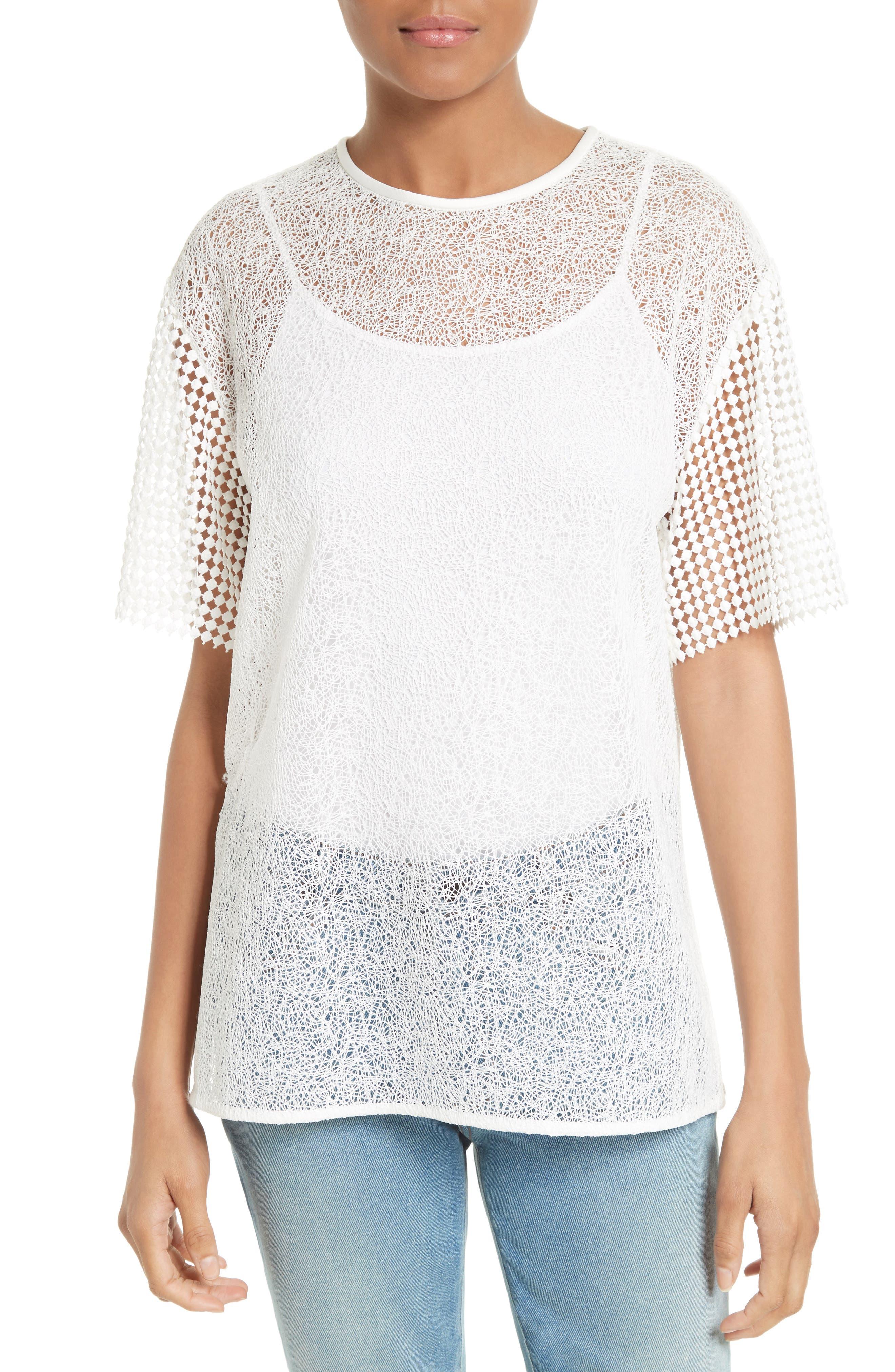 Diane von Furstenberg Twig Lace Shirt
