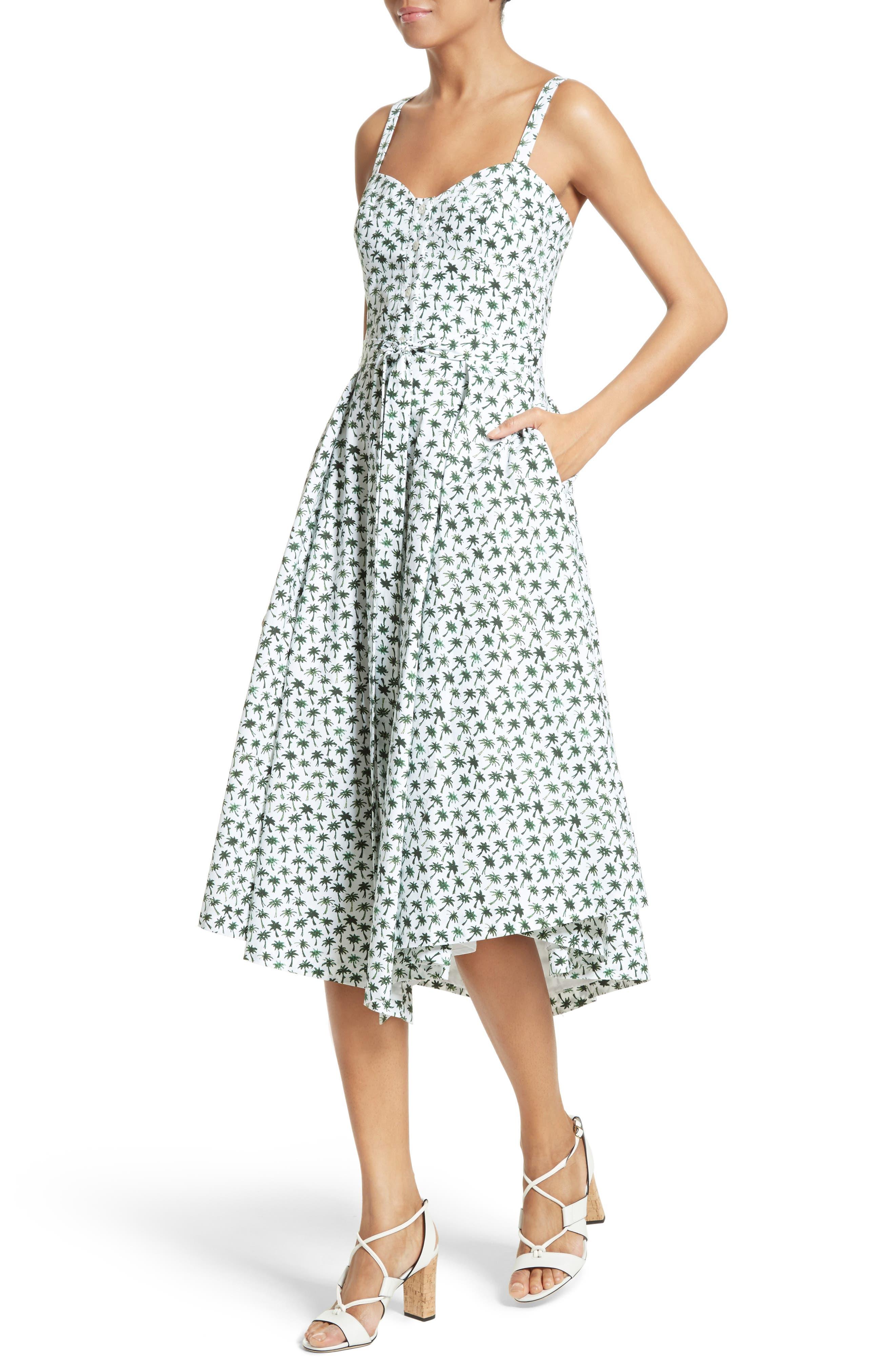 Alternate Image 4  - Milly Bambino Palm Print Midi Dress