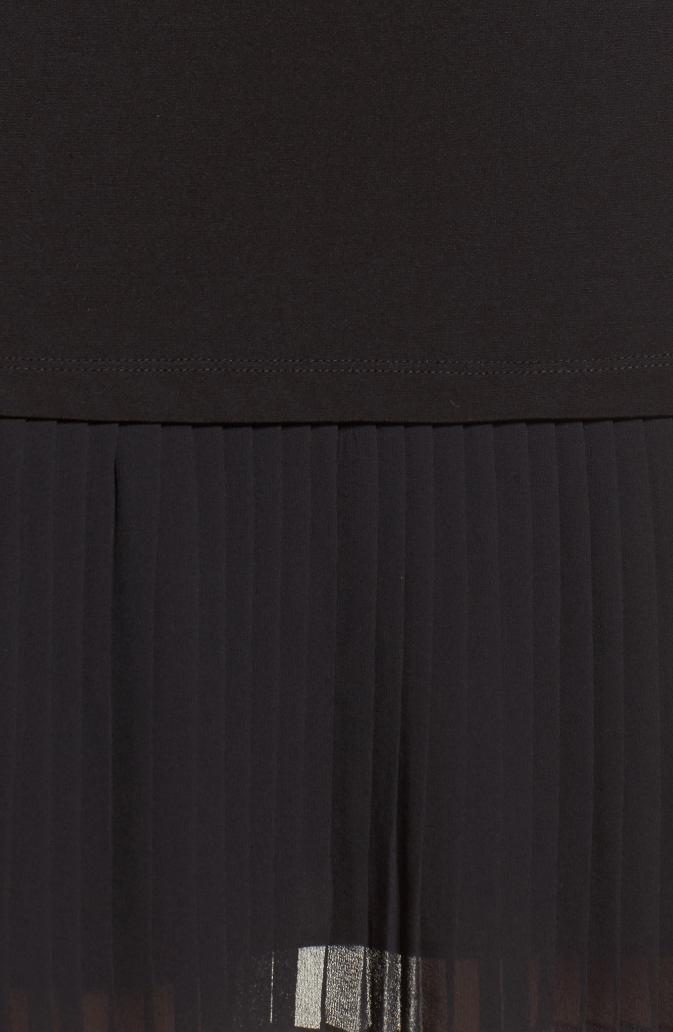 Alternate Image 5  - MICHAEL Michael Kors Pleat Chiffon Hem Jersey Dress