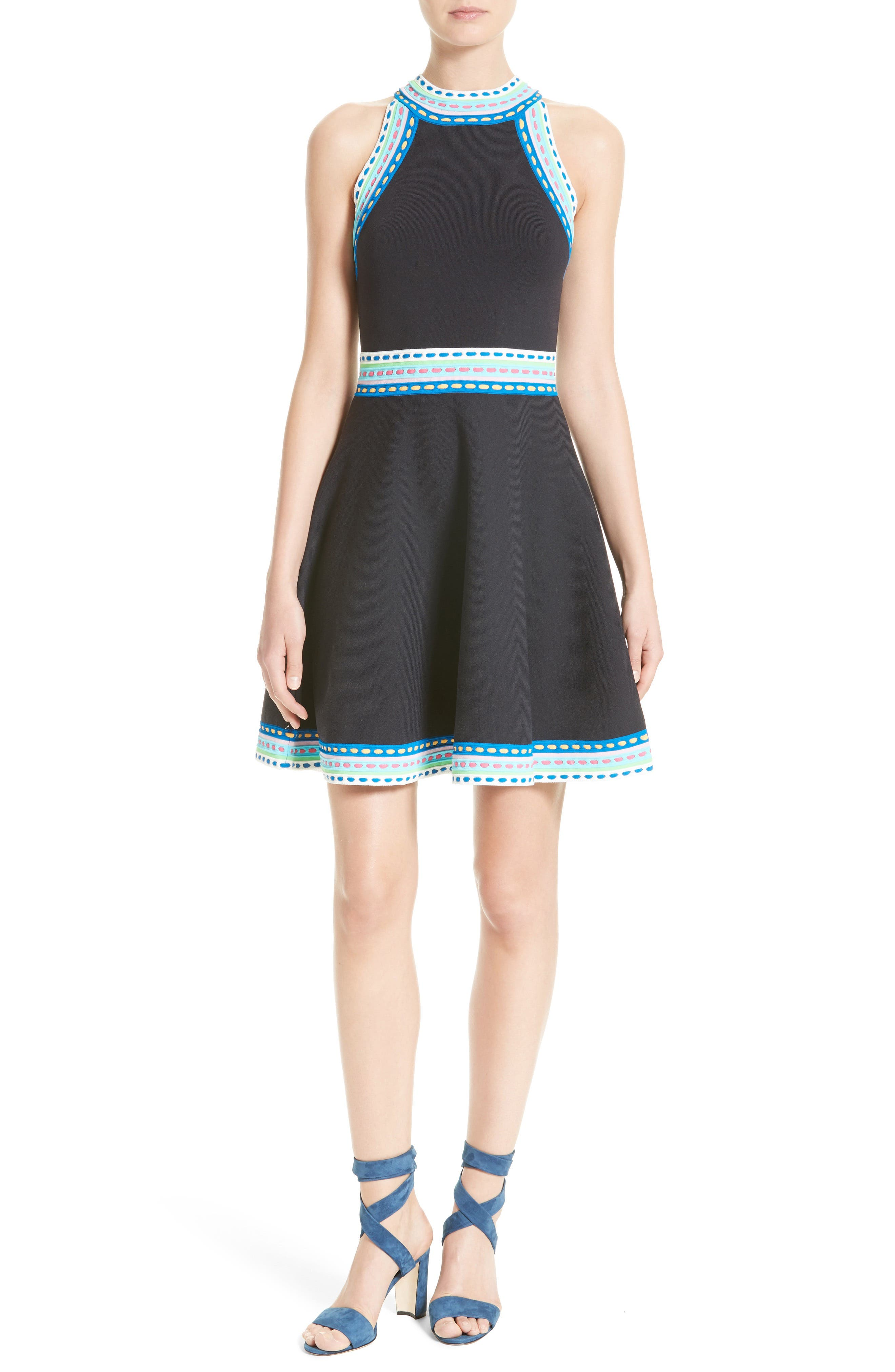 Milly Fit Amp Flare Knit Dress Nordstrom