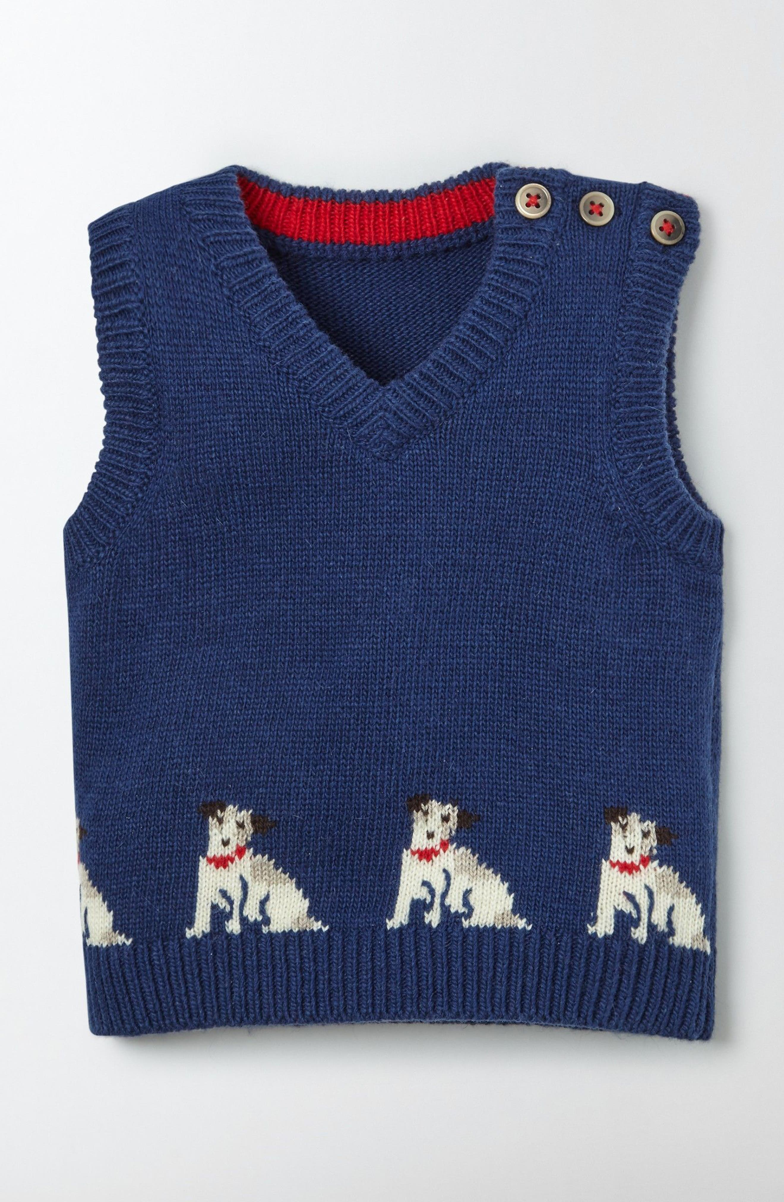 MINI BODEN Sprout Knit Sweater Vest