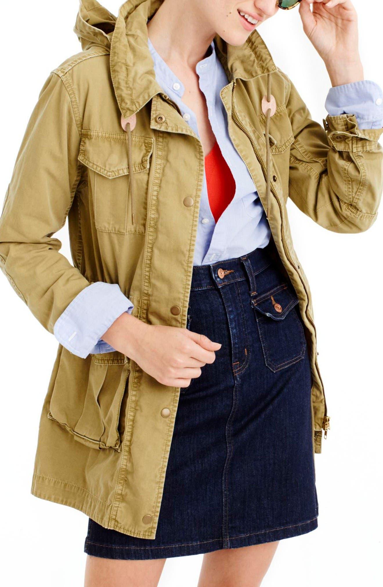 Alternate Image 1 Selected - J.Crew Fatigue Jacket (Regular & Petite)