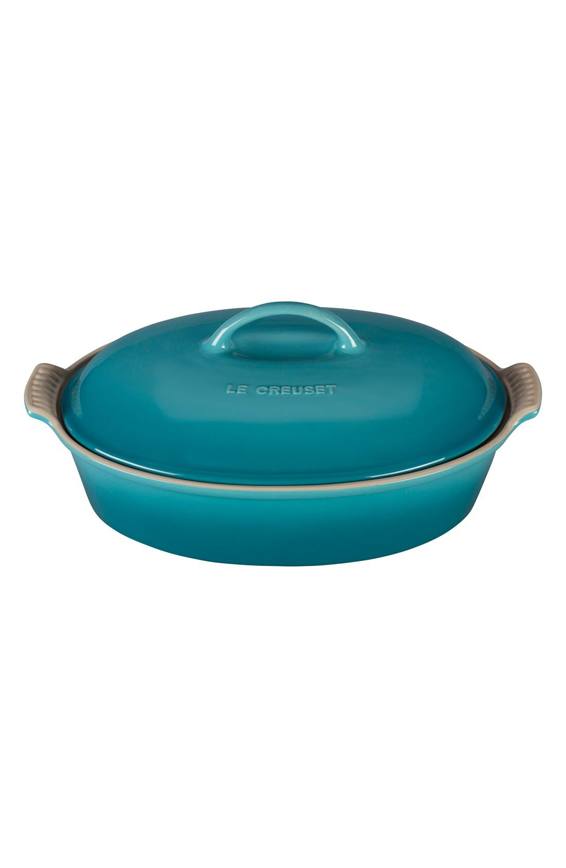 Le Creuset 4 Quart Covered Oval Stoneware Casserole
