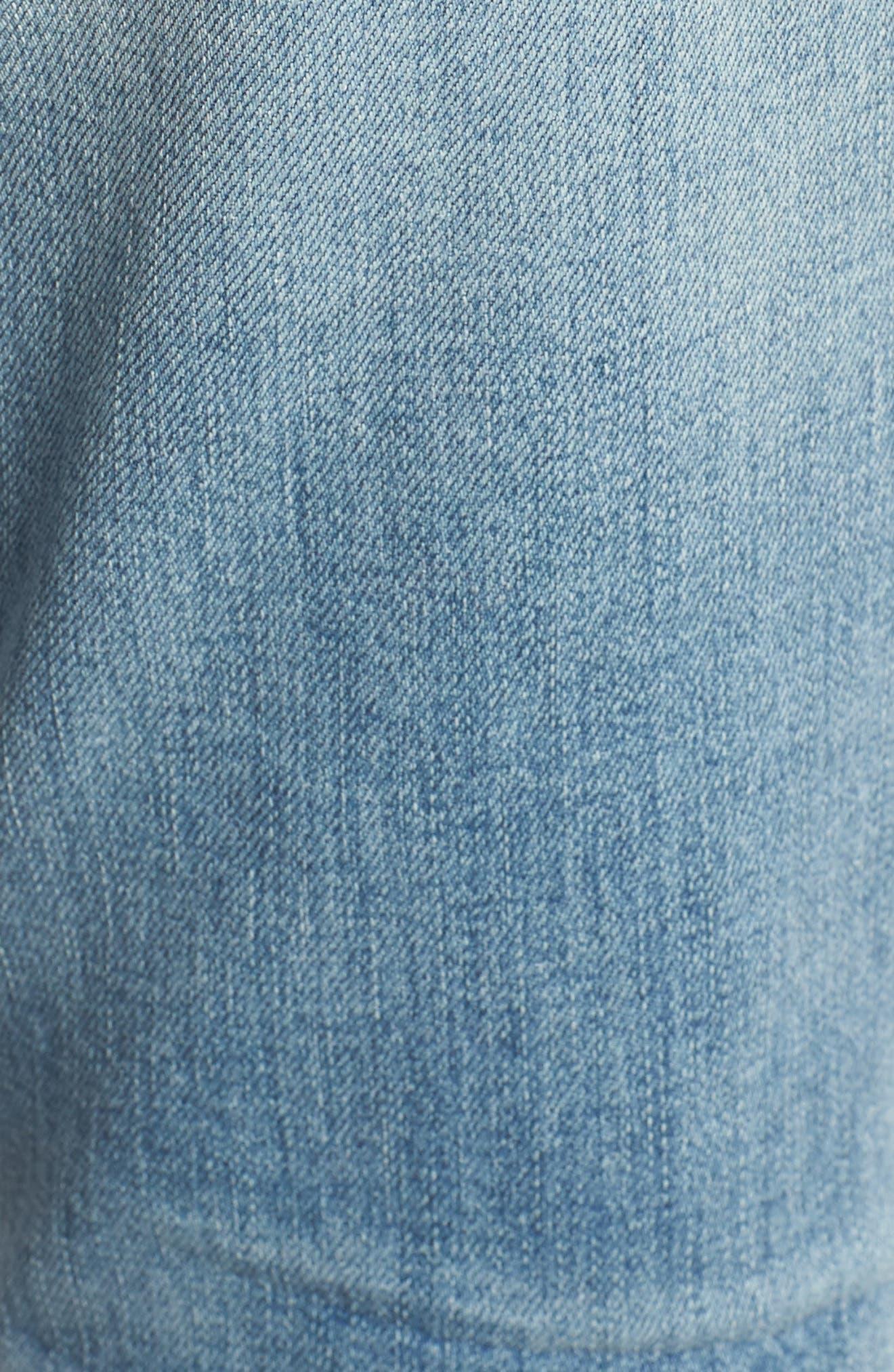 Alternate Image 6  - Treasure & Bond Skinny Boyfriend Jeans (Gravel Medium Remade)