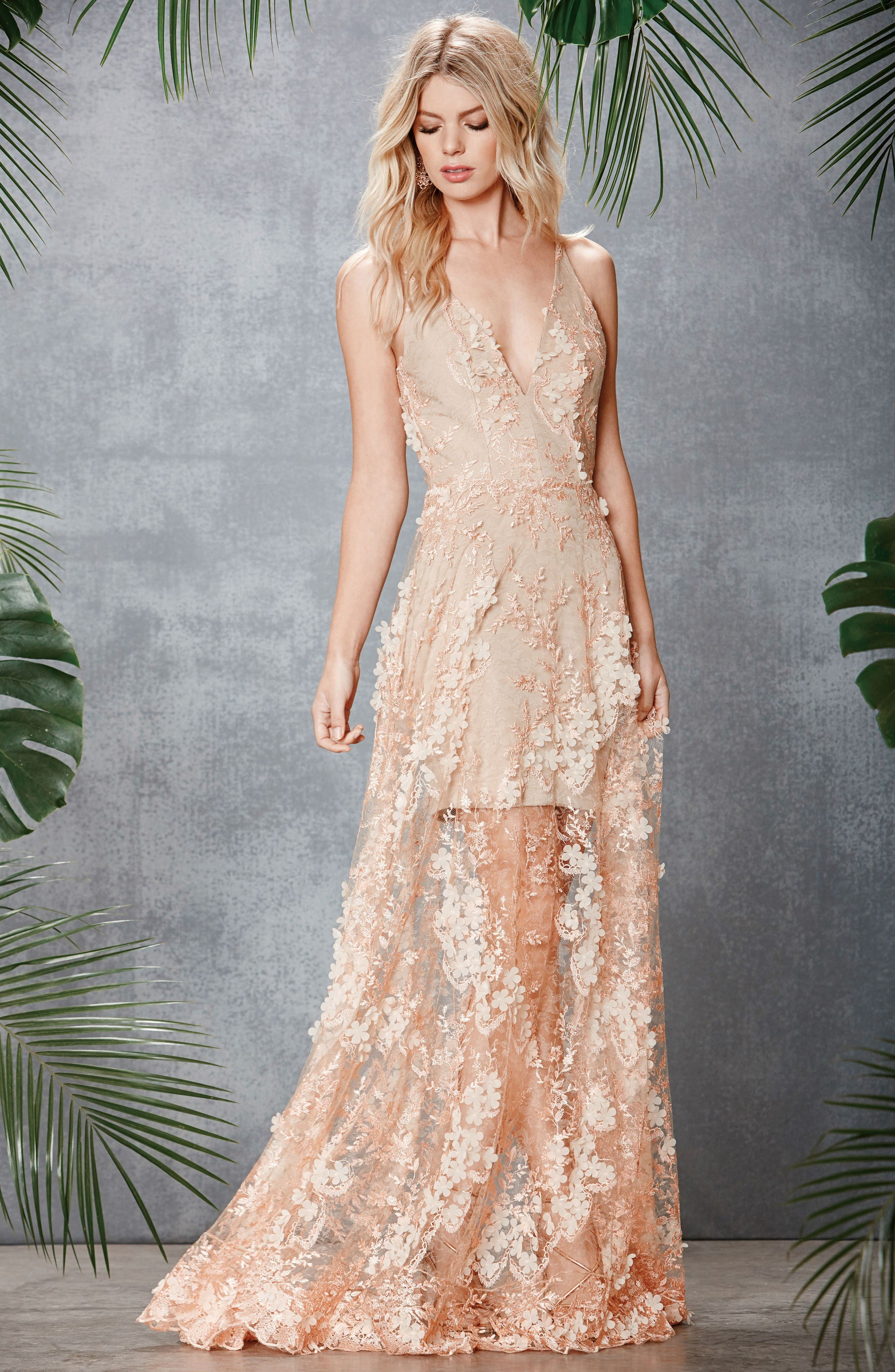 Alternate Image 5  - Dress the Population Sidney Lace Gown