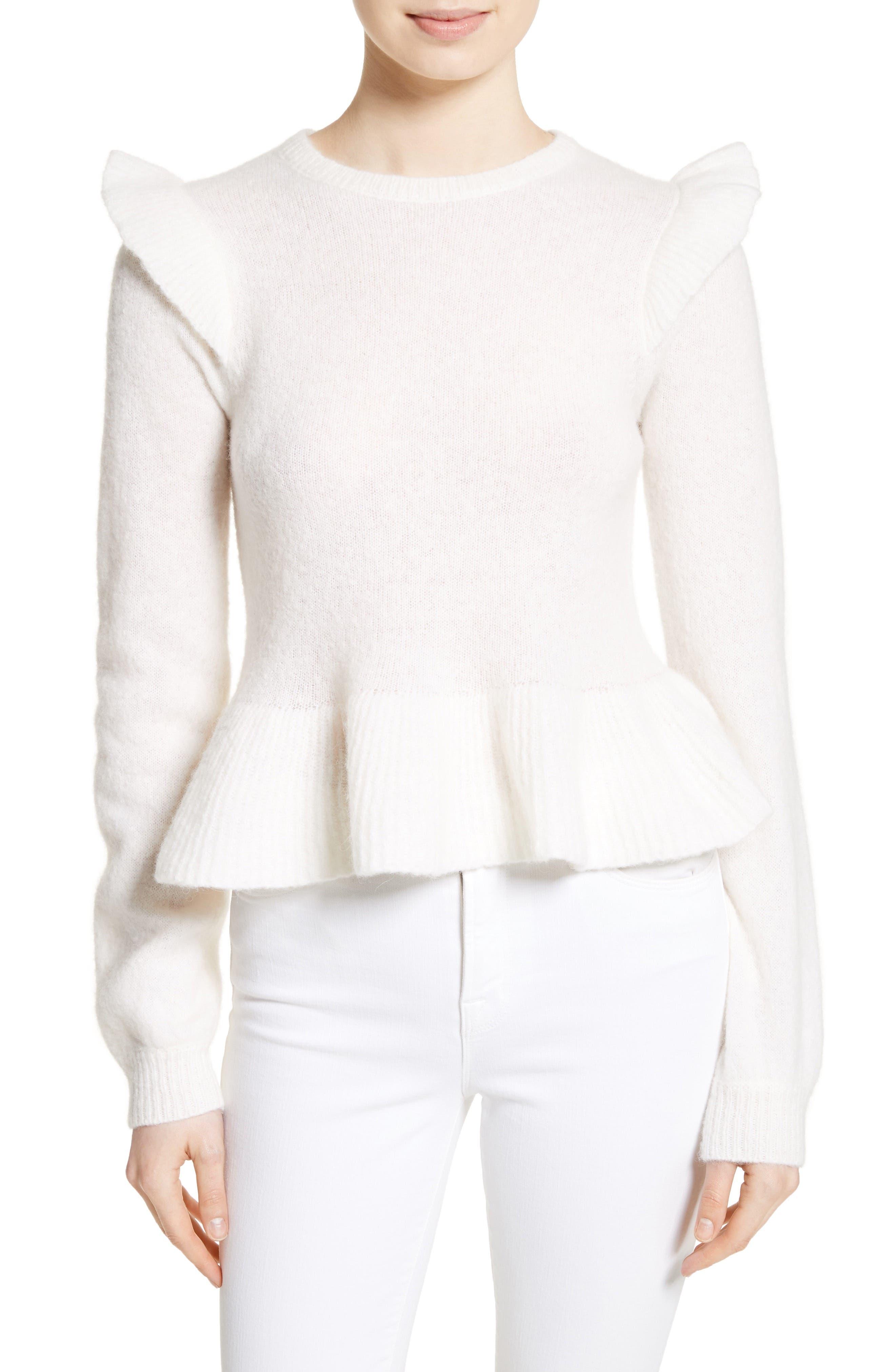 La Vie Rebecca Taylor Ruffle Sweater