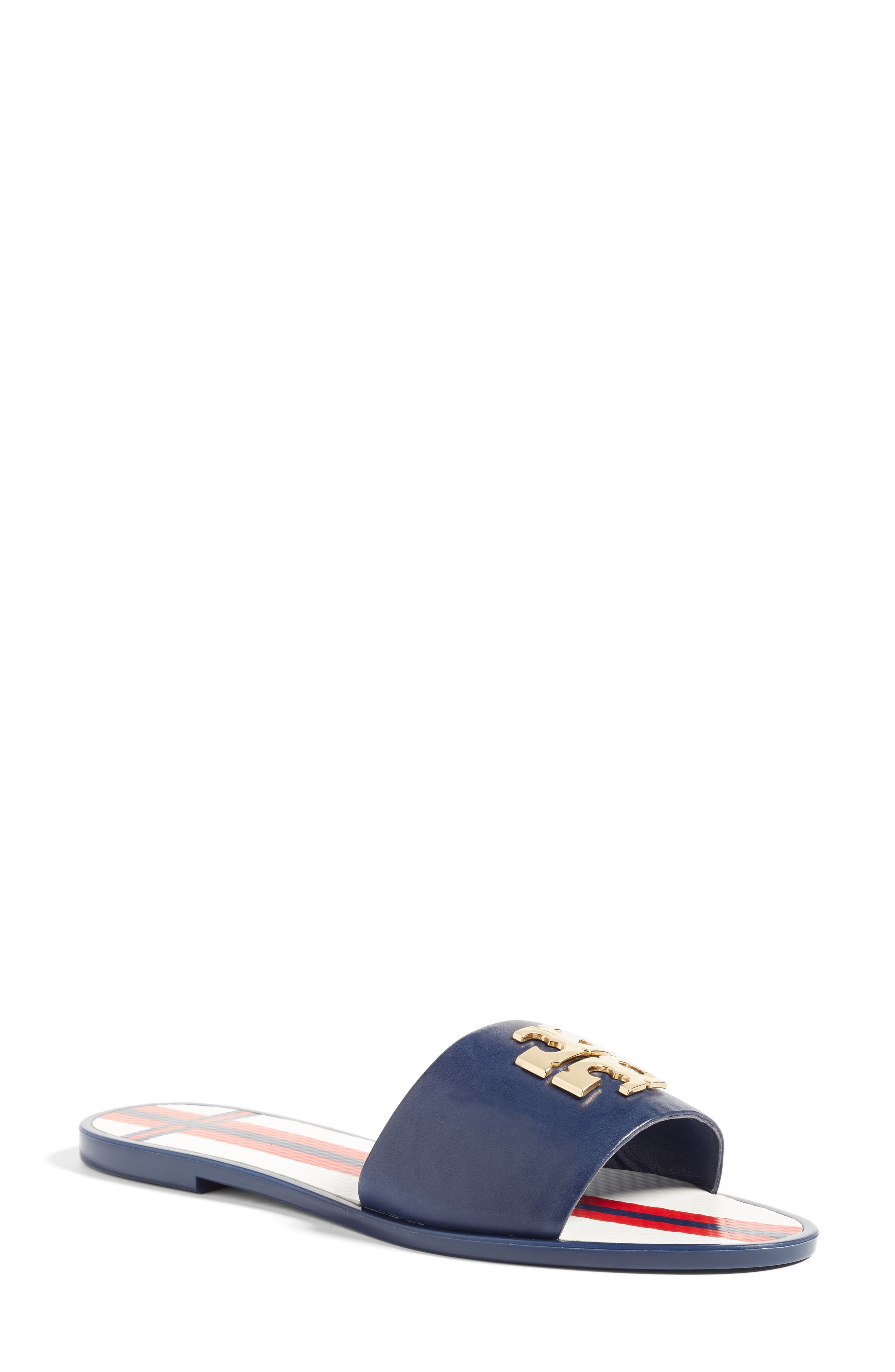 Tory Burch Logo Slide Sandal (Women)