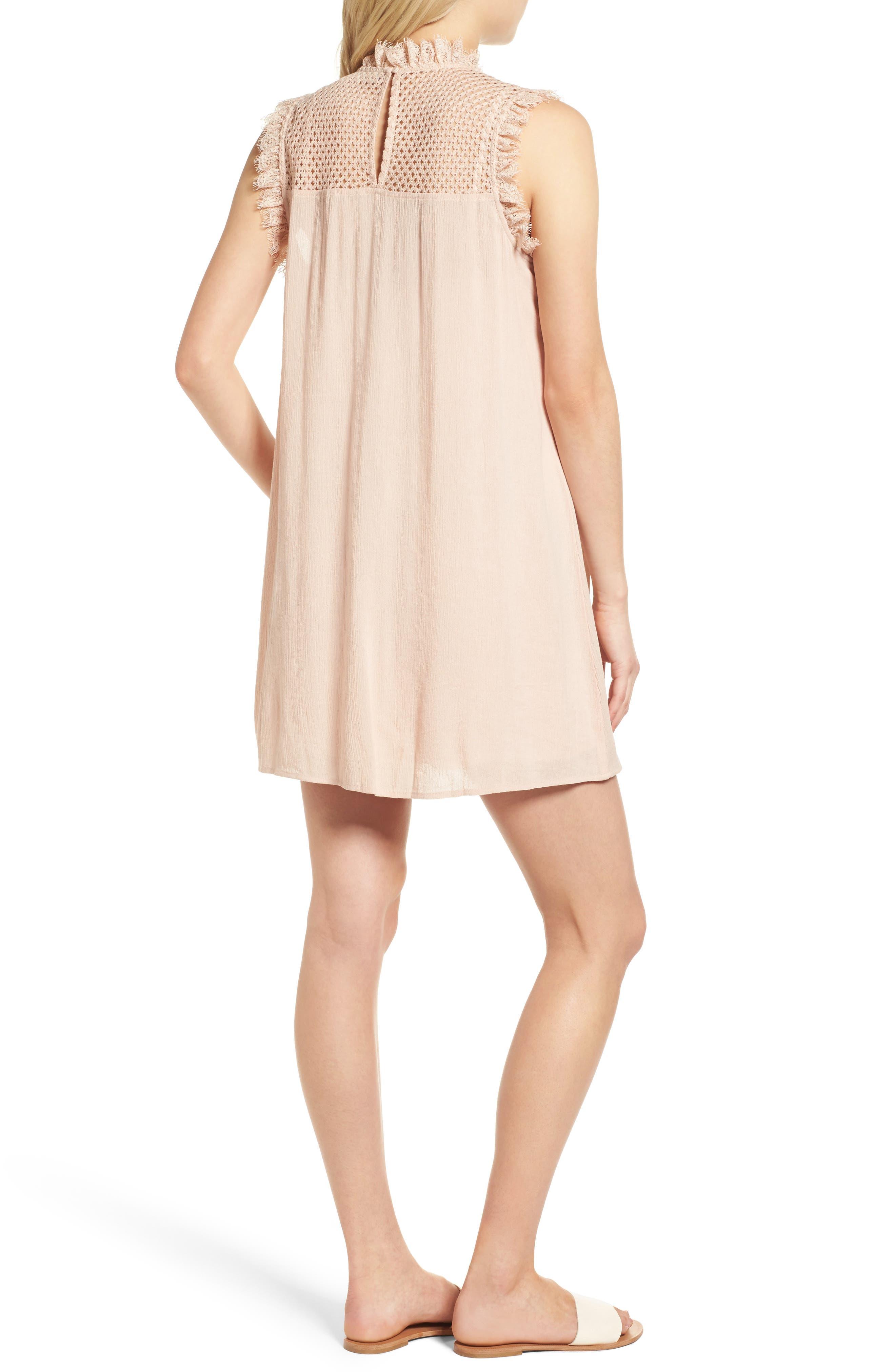Alternate Image 2  - Hinge Lace Yoke Babydoll Dress