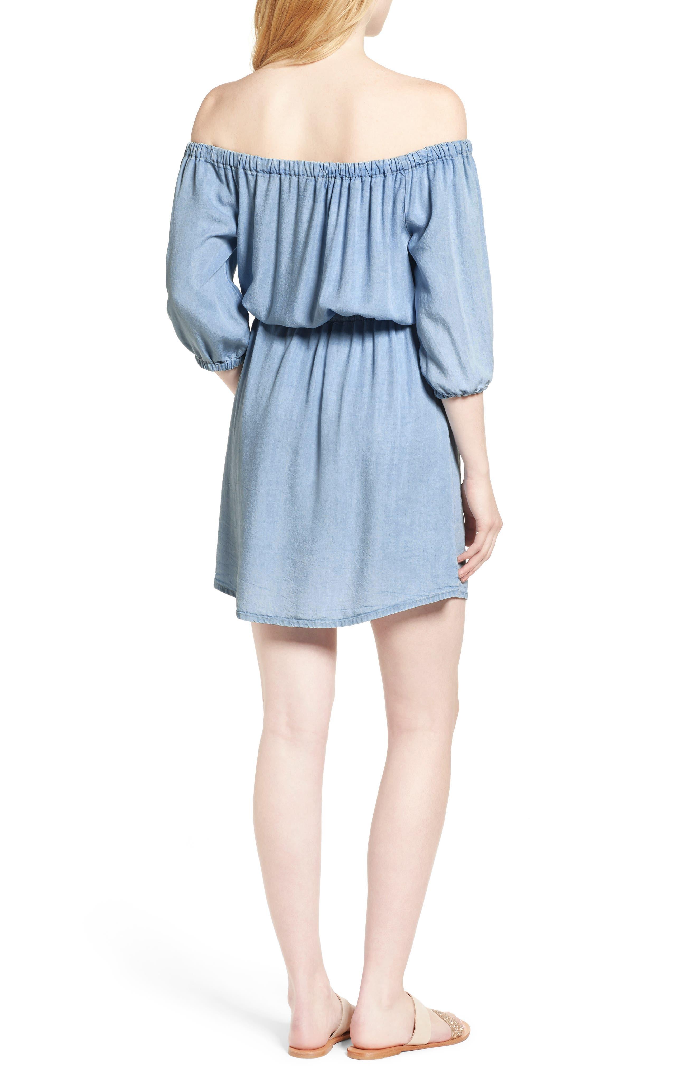 Alternate Image 2  - Splendid Off the Shoulder Blouson Dress