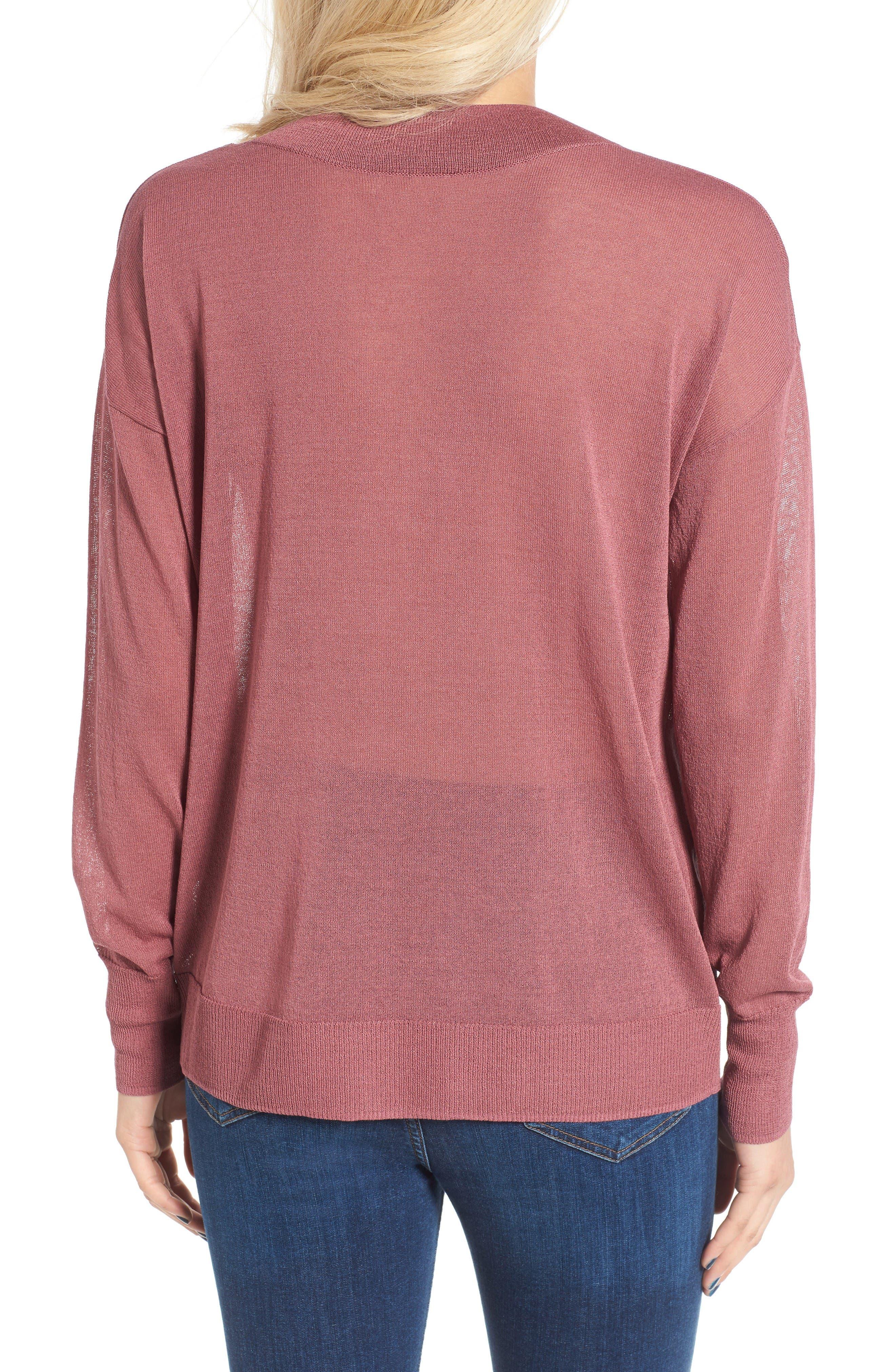 Alternate Image 2  - Leith Sheer V-Neck Sweater