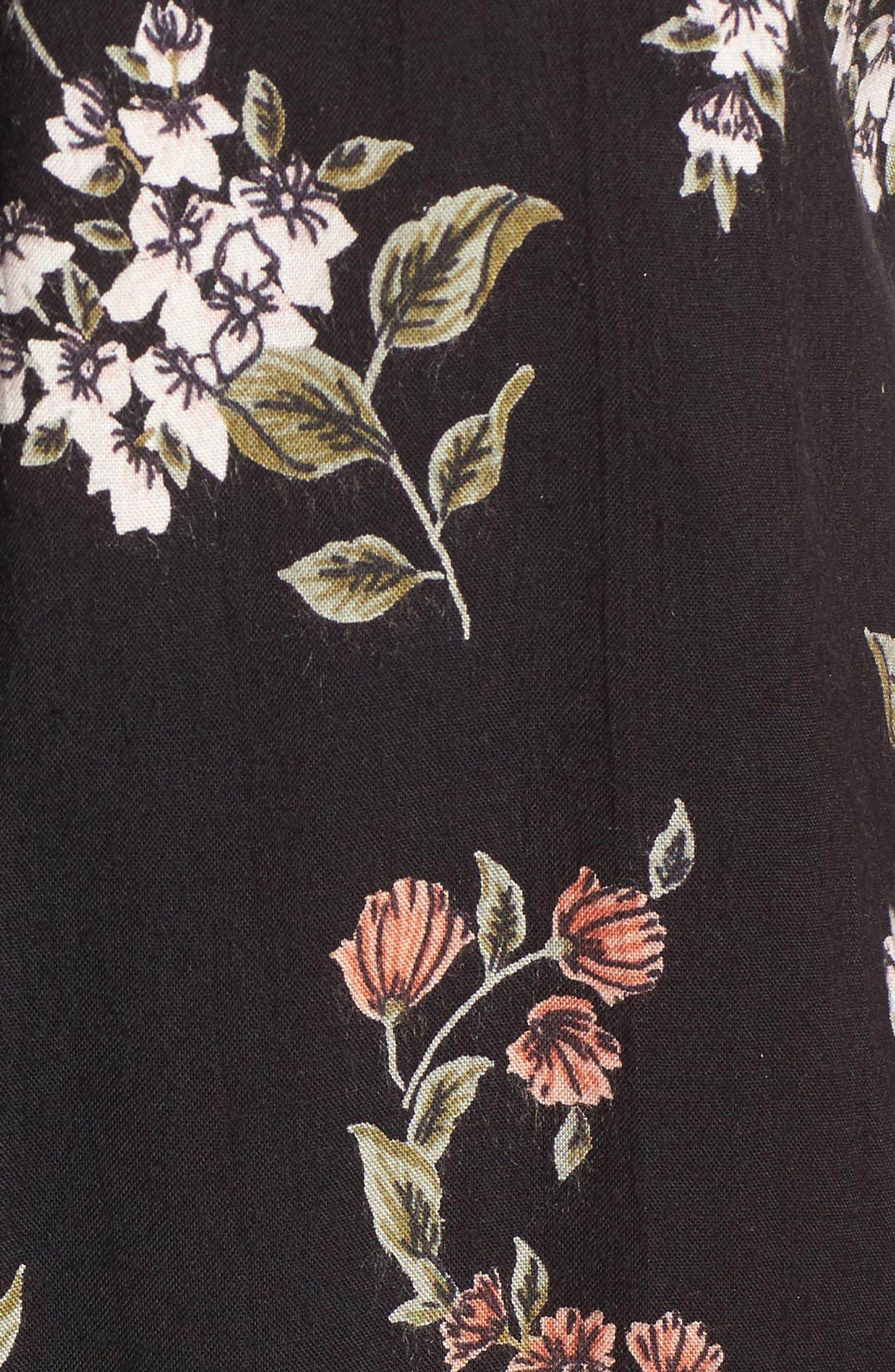 Alternate Image 5  - Angie Floral Print Strappy Back Dress