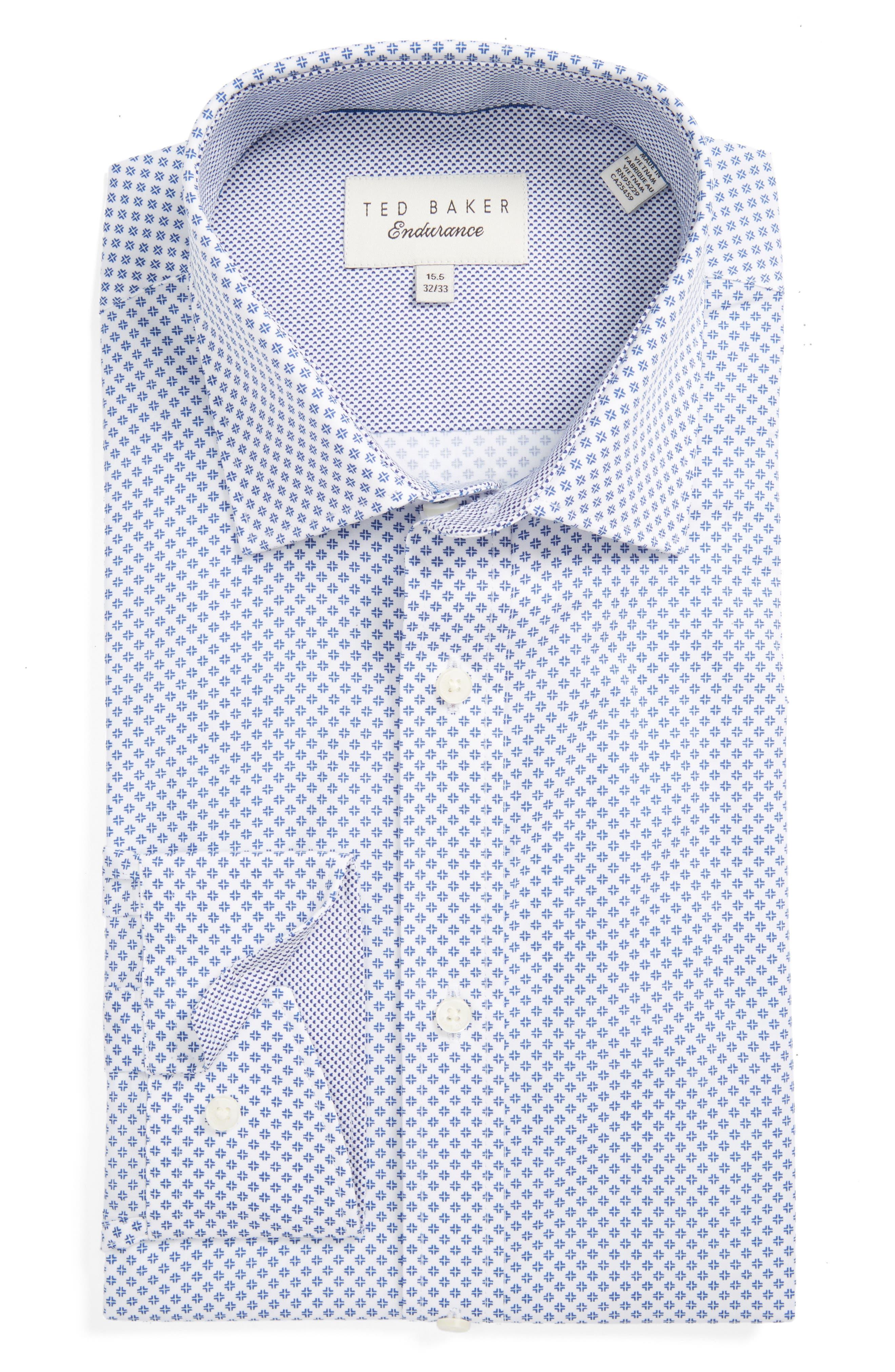 Ted Baker London Gould Trim Fit Geometric Dress Shirt