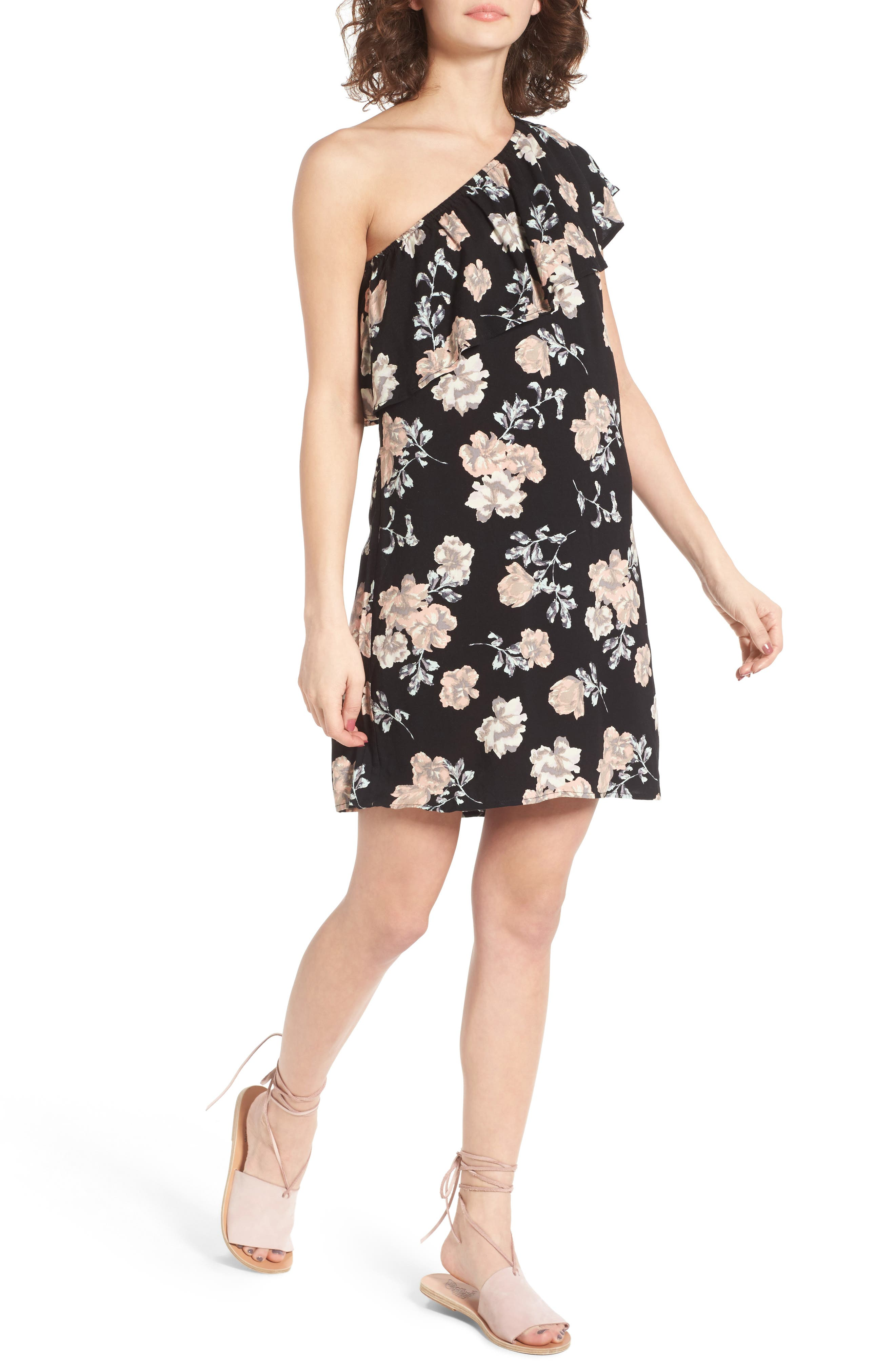 Love, Fire One-Shoulder Dress