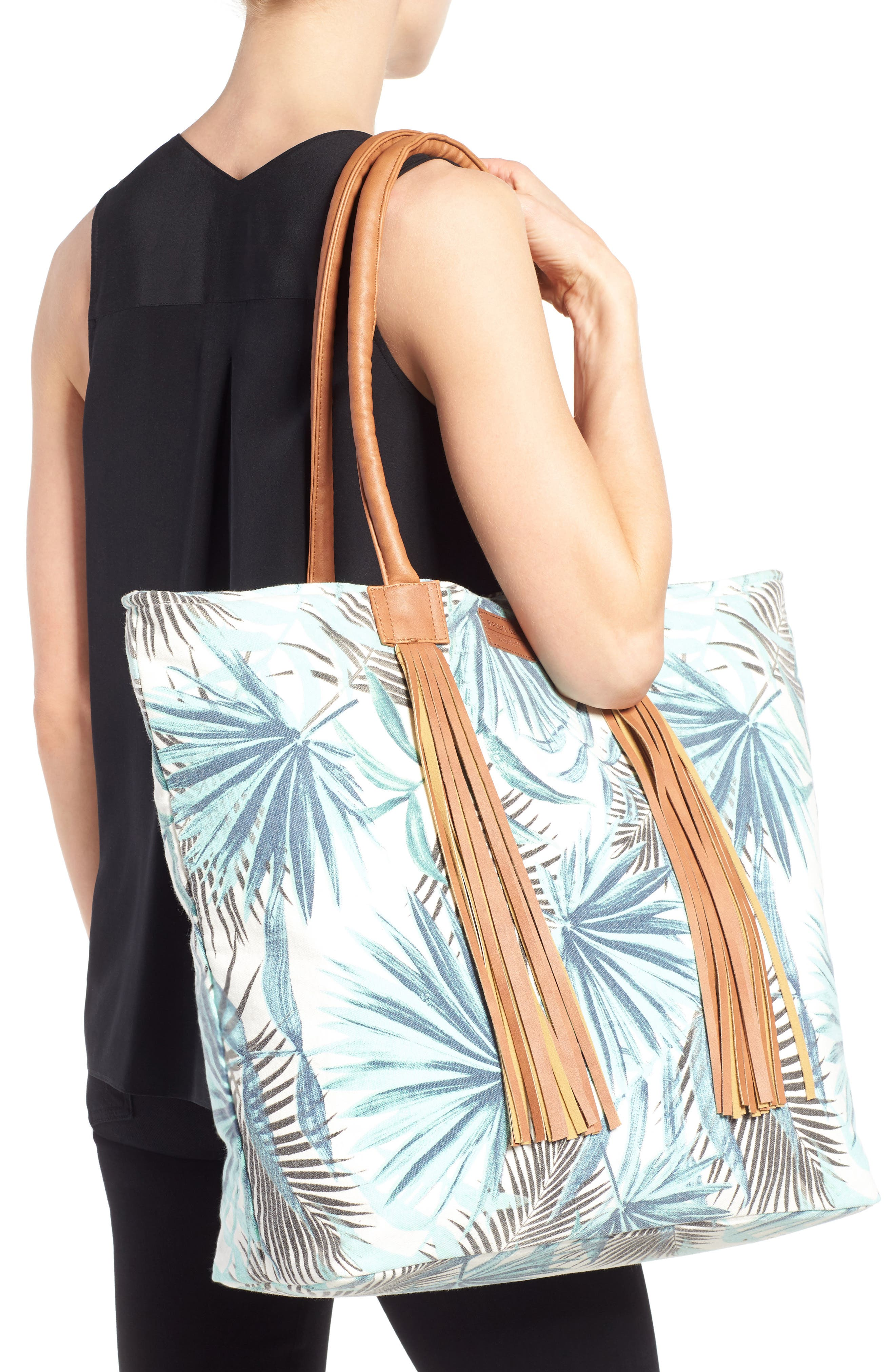 Alternate Image 2  - Rip Curl Palm Print Beach Tote