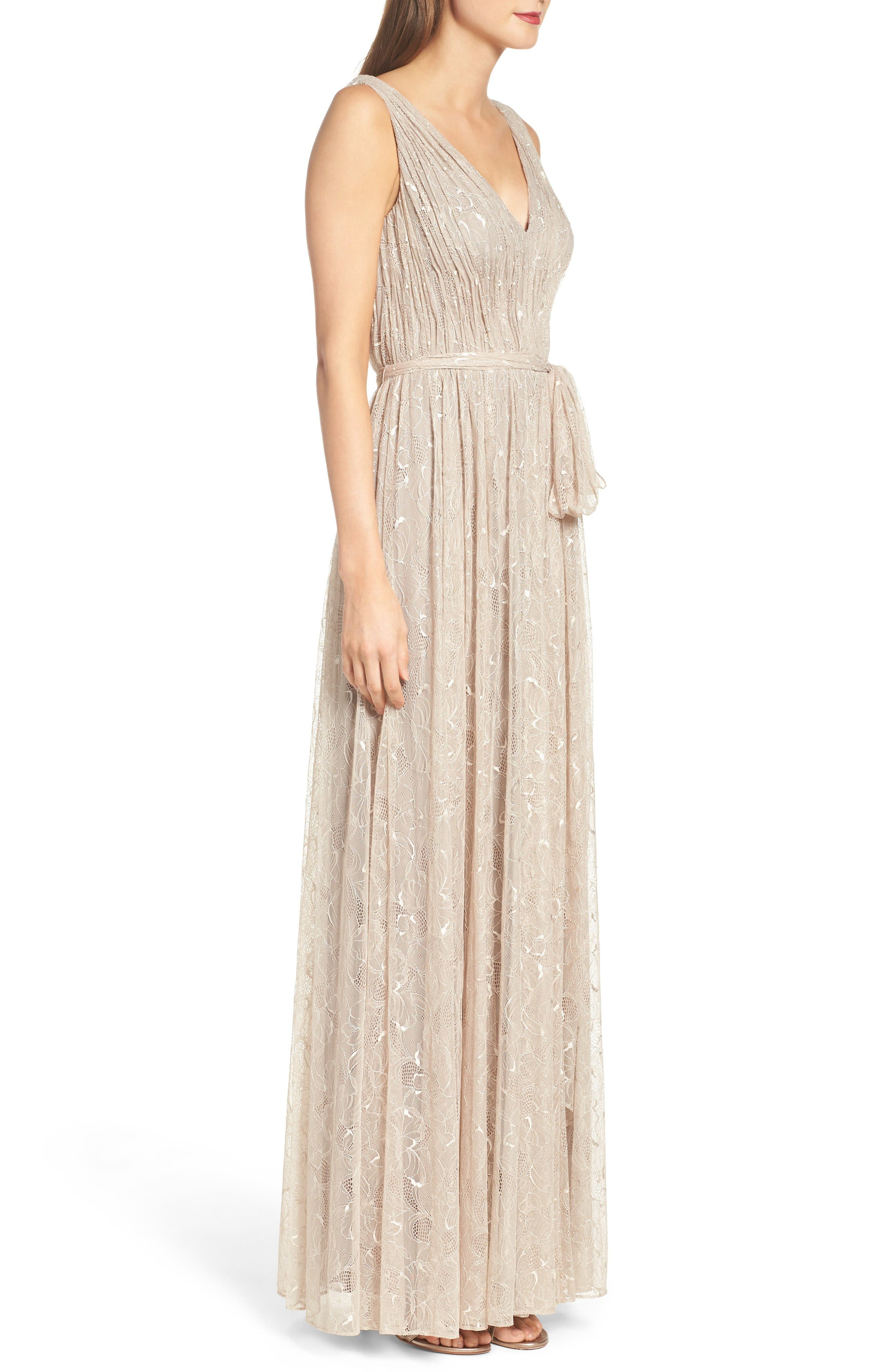 Alternate Image 3  - Vera Wang Lace Fit & Flare Gown