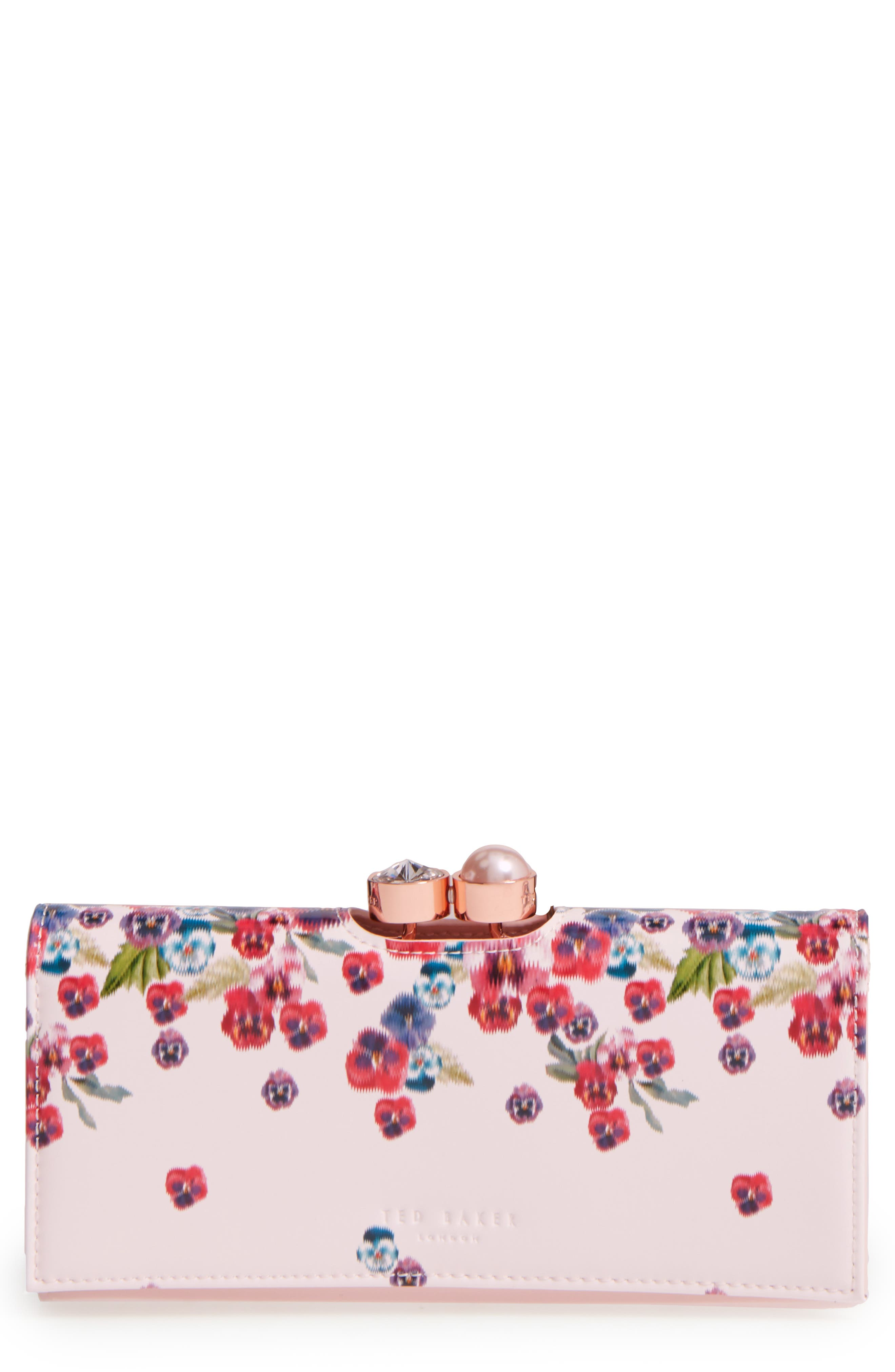 Ted Baker London Scatter Pansy Leather Matinée Wallet (Nordstrom Exclusive)