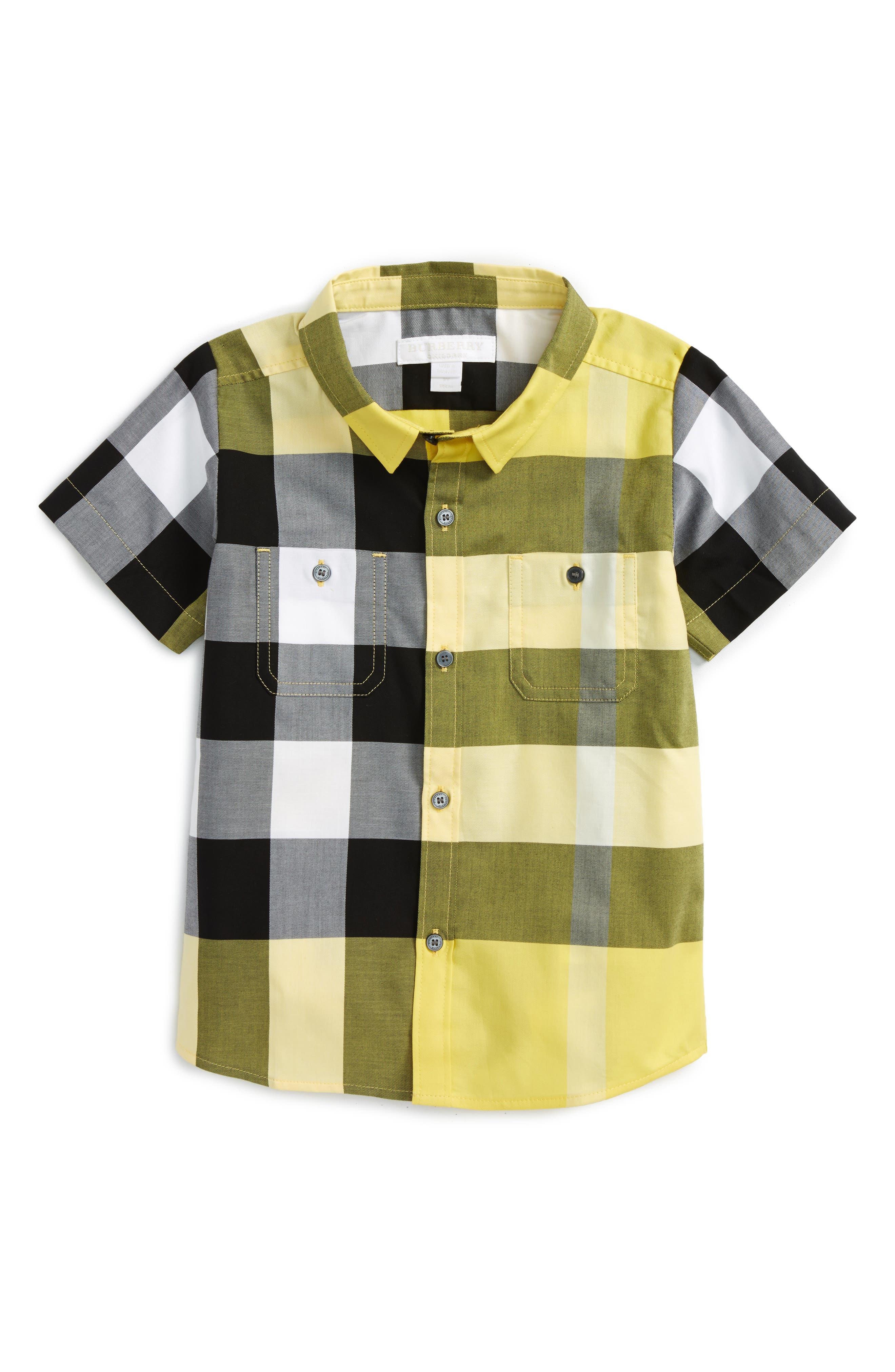 Burberry Mini Camber Short Sleeve Shirt (Toddler Boys, Little Boys & Big Boys)