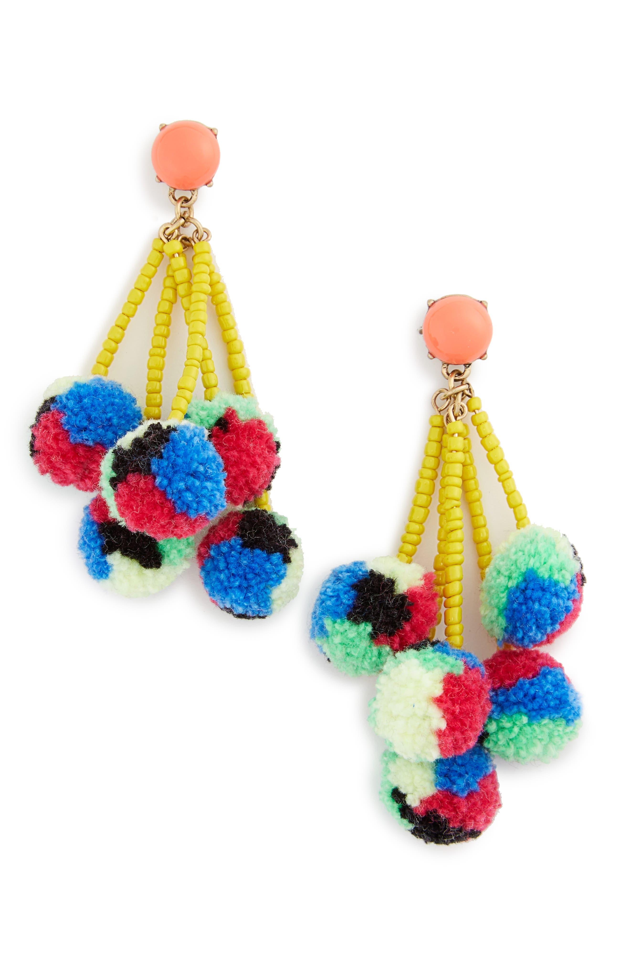 BaubleBar Caicos Pompom Drop Earrings